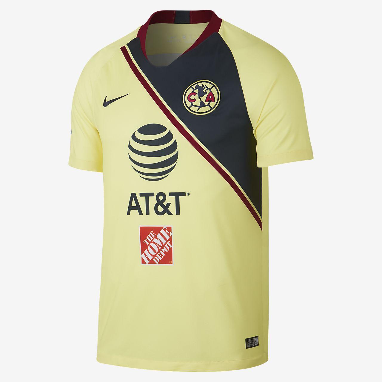 e07bec297e618 ... Camiseta de fútbol para hombre de local Stadium del Club América 2018 19
