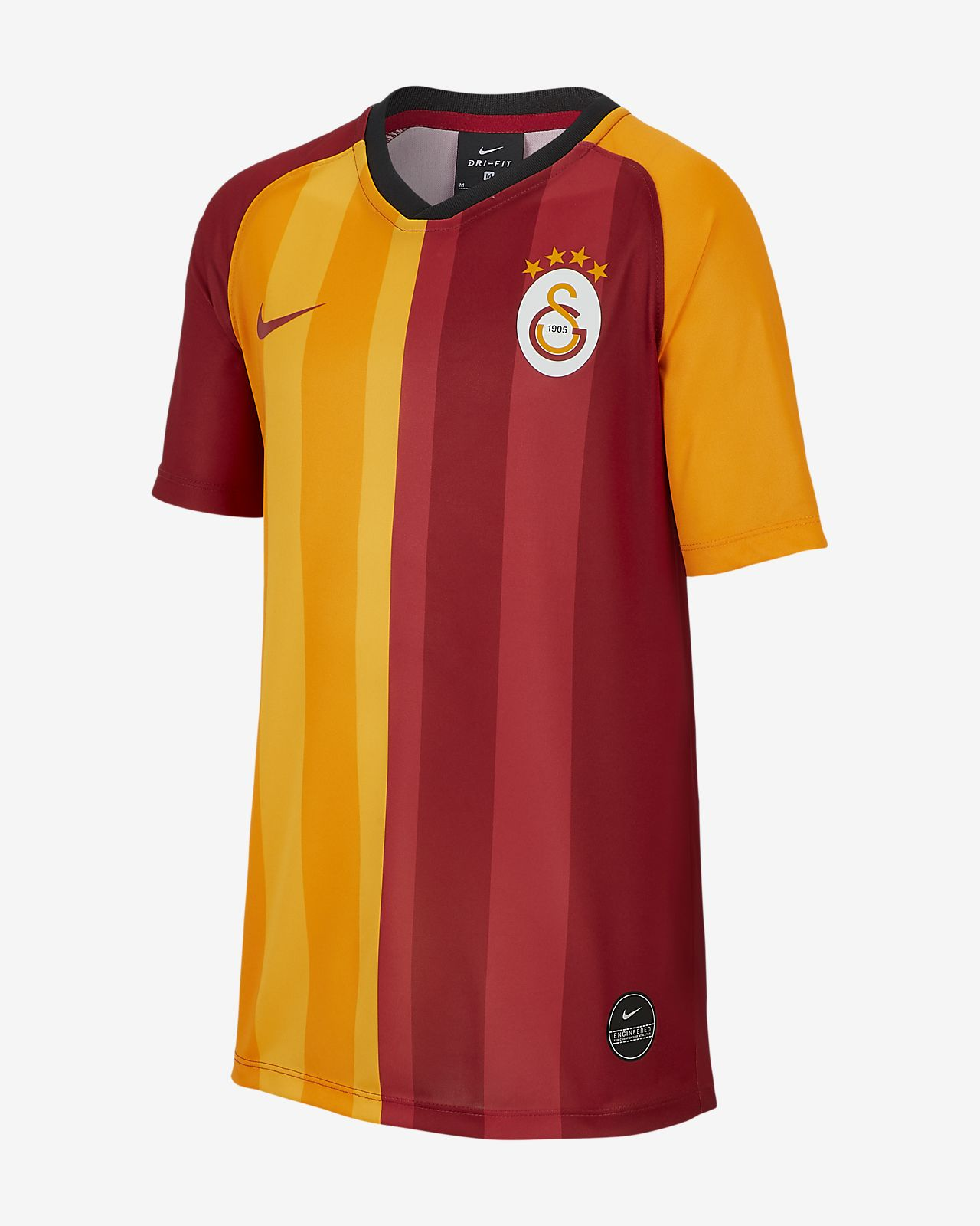Galatasaray 2019/20 Home Kurzarm-Fußballoberteil für ältere Kinder