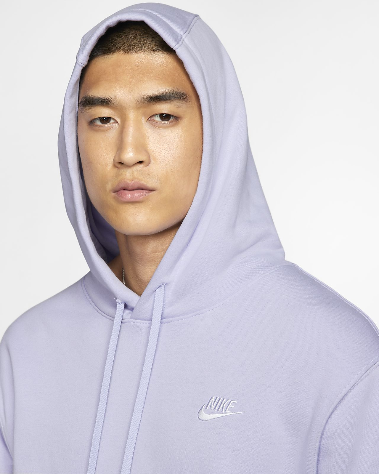 Nike Club Fleece Hoody, Herren, violett: : Sport
