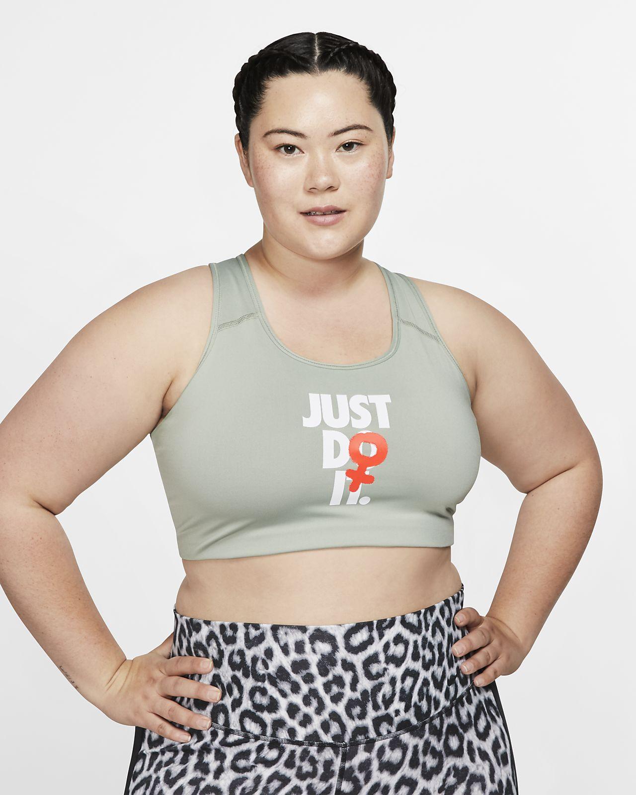 Nike Rebel Swoosh Women's JDI Medium-Support Sports Bra (Plus Size)
