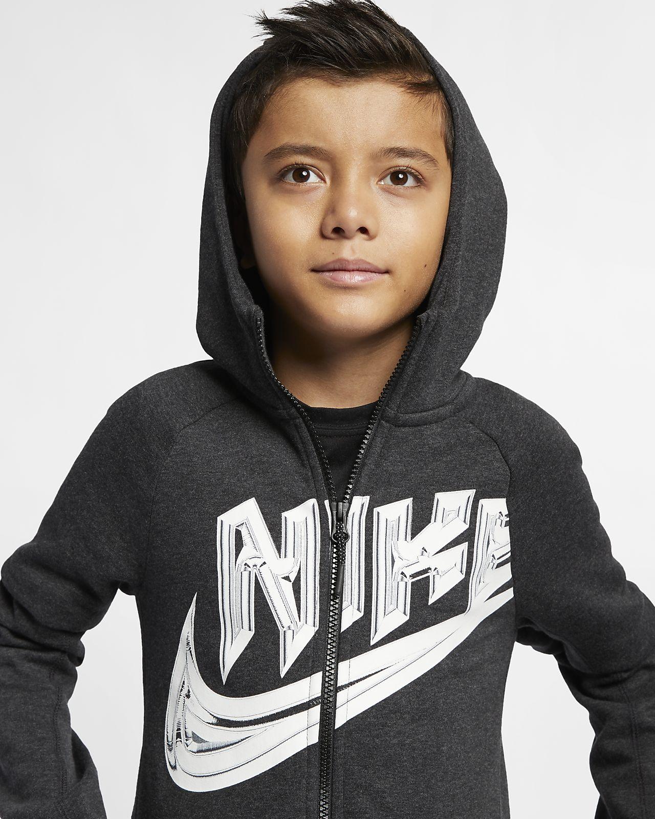 Nike Sportswear 大童(男孩)全长拉链开襟连帽衫