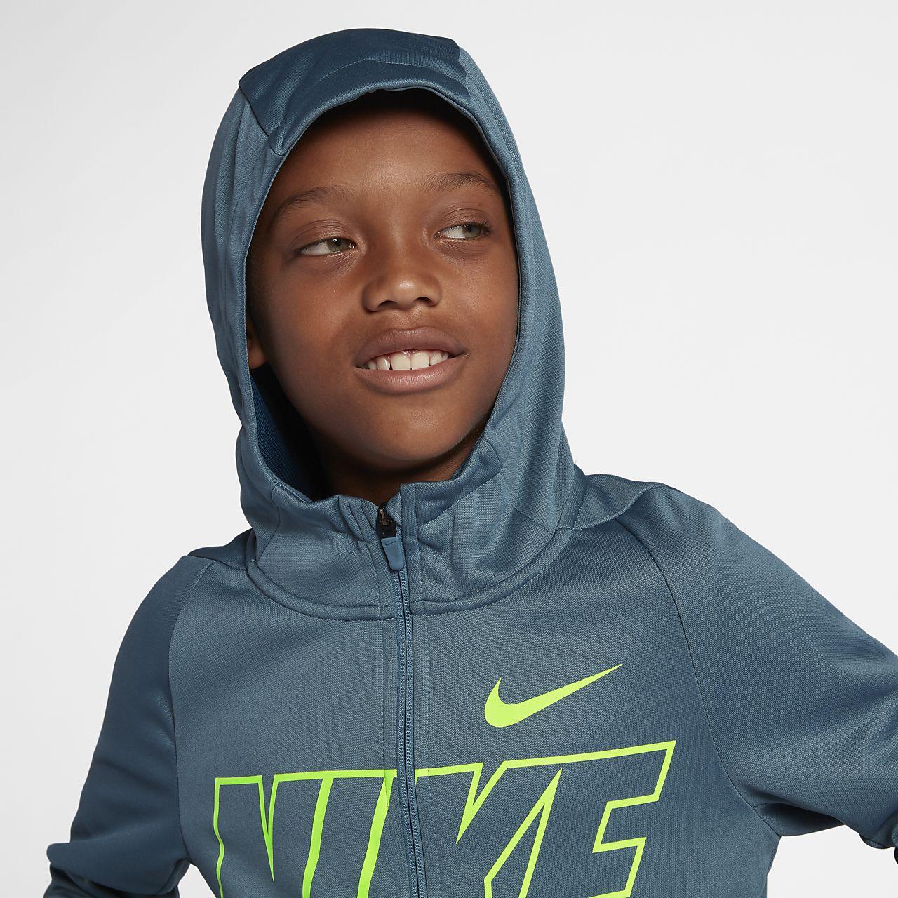 0418b02b4 Nike Dri-FIT Therma Big Kids' (Boys') Full-Zip Training Hoodie. Nike.com