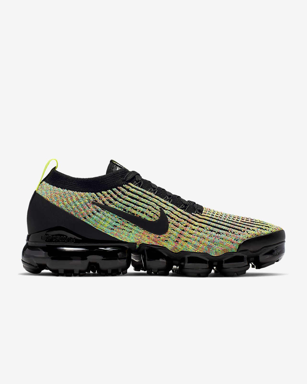 nike running vapormax flyknit 3.0 trainers in black