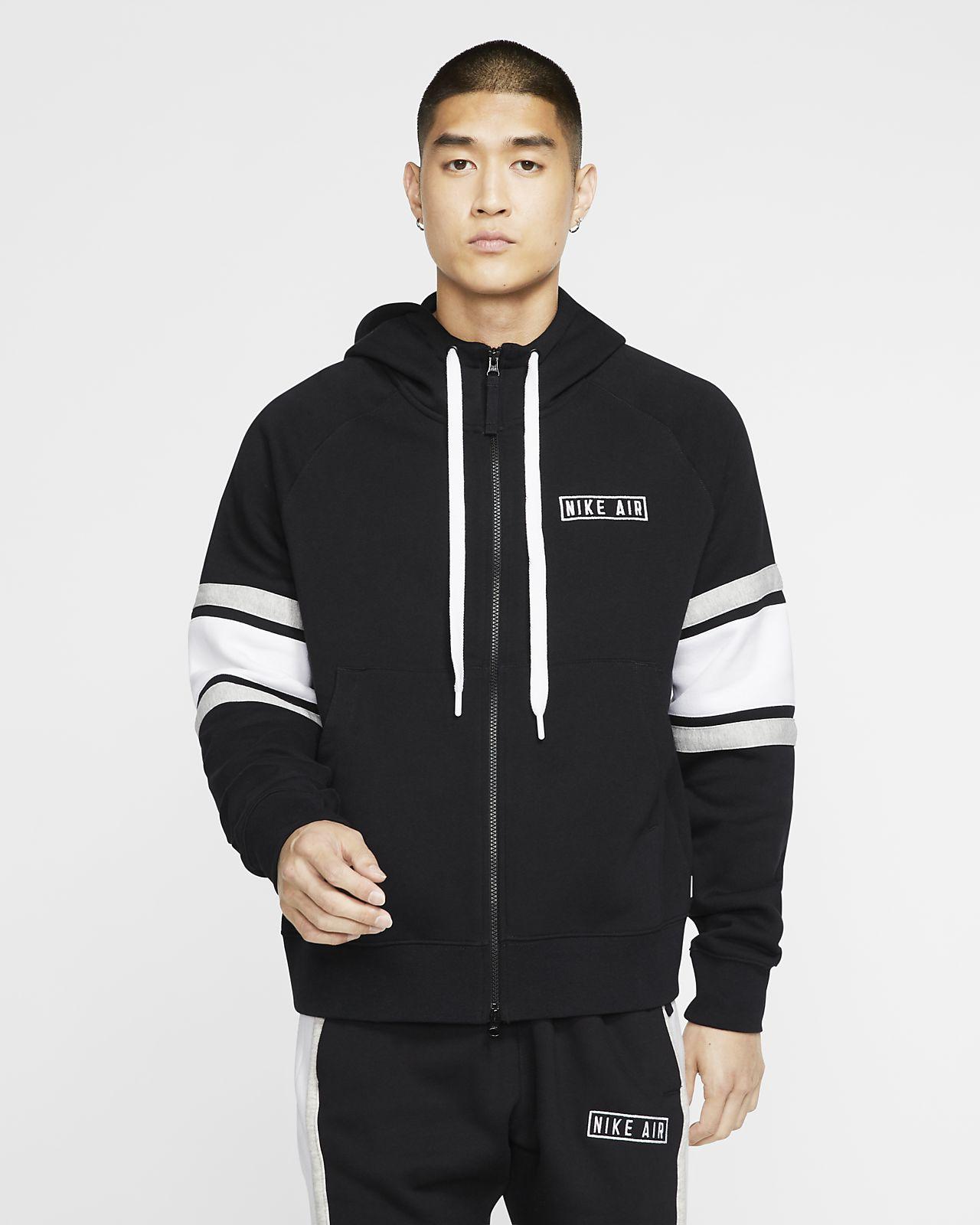Sudadera Nike Air cuello alto gris jaspeada con capucha