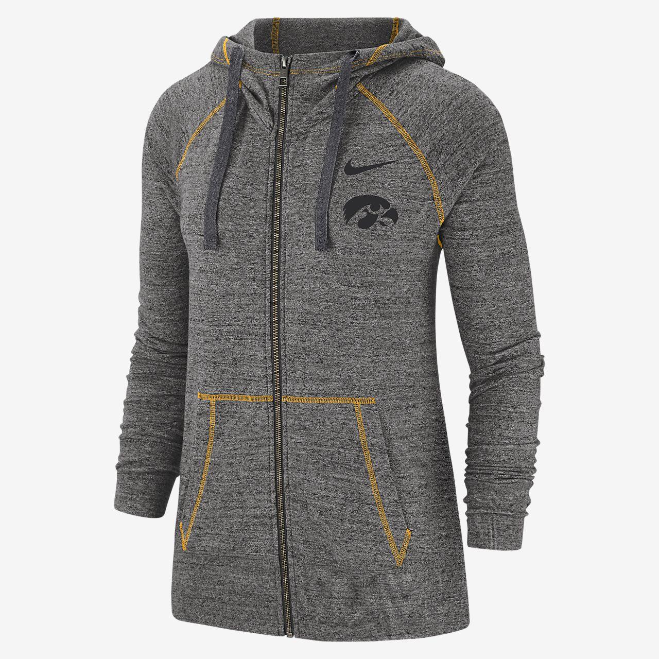 Nike College Gym Vintage (Iowa) Women's Full Zip Hoodie