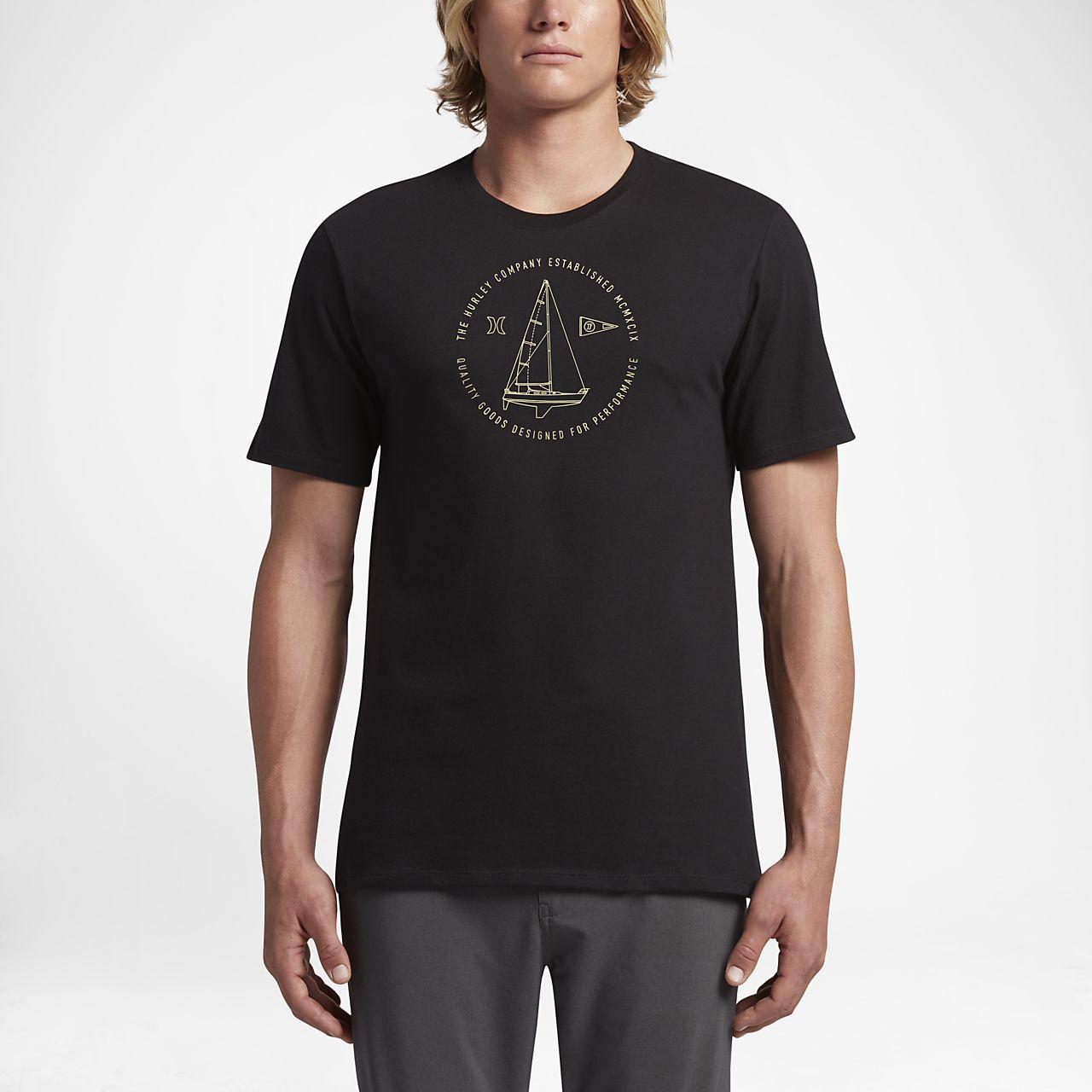 Nike Mens T-Shirt - Nike Hurley JJF Photo Premium White M75g8380