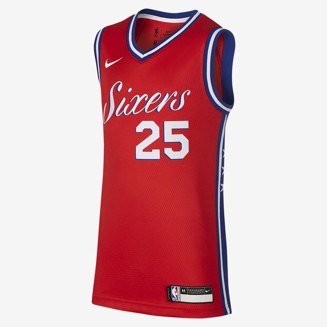 5b9ae63c37d ... 费城76 人队Statement Edition Swingman Nike NBA Jersey 大童(男孩)球衣