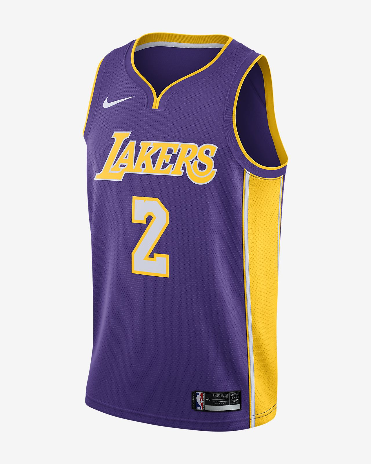 202d7bb4dfc Men s Nike NBA Connected Jersey. Lonzo Ball Icon Edition Swingman Jersey (Los  Angeles Lakers)