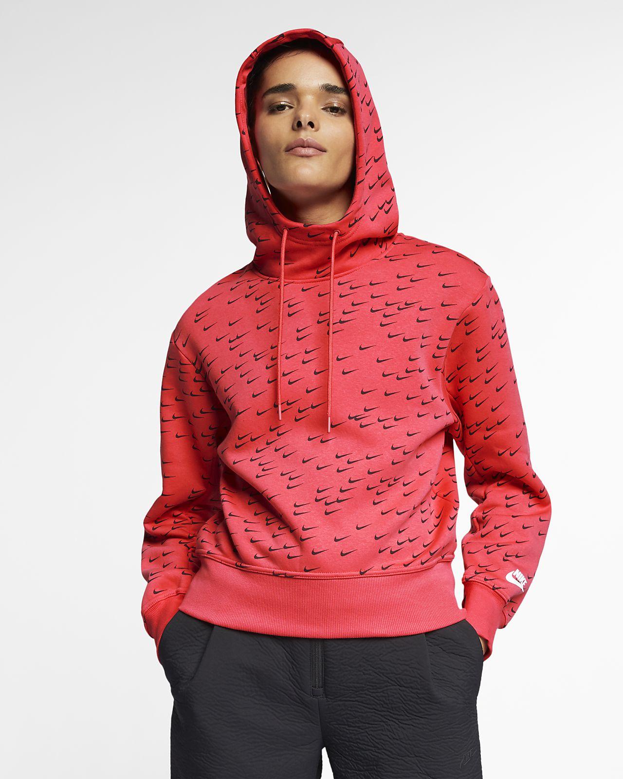 e15e700c850e Sweat à capuche imprimé Nike Sportswear Swoosh pour Femme. Nike.com BE