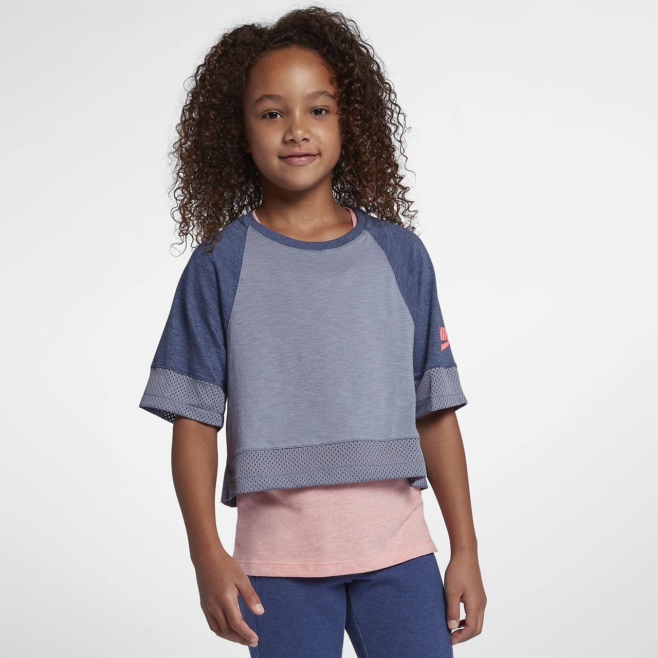 194281335ff Nike Sportswear Big Kids' (Girls') Short-Sleeve Crop Top. Nike.com