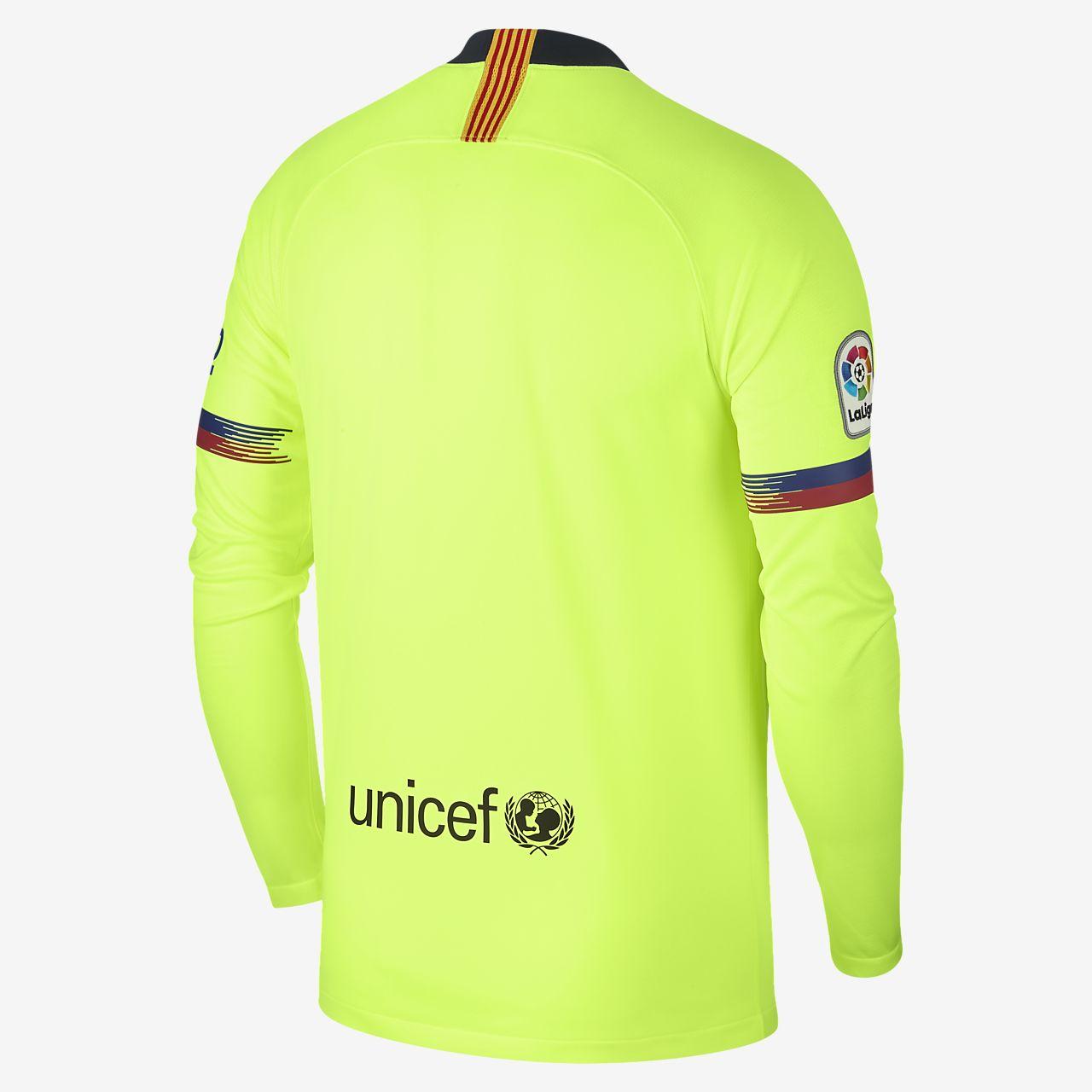 71e6bba4f 2018 19 FC Barcelona Stadium Away Men s Long-Sleeve Football Shirt ...
