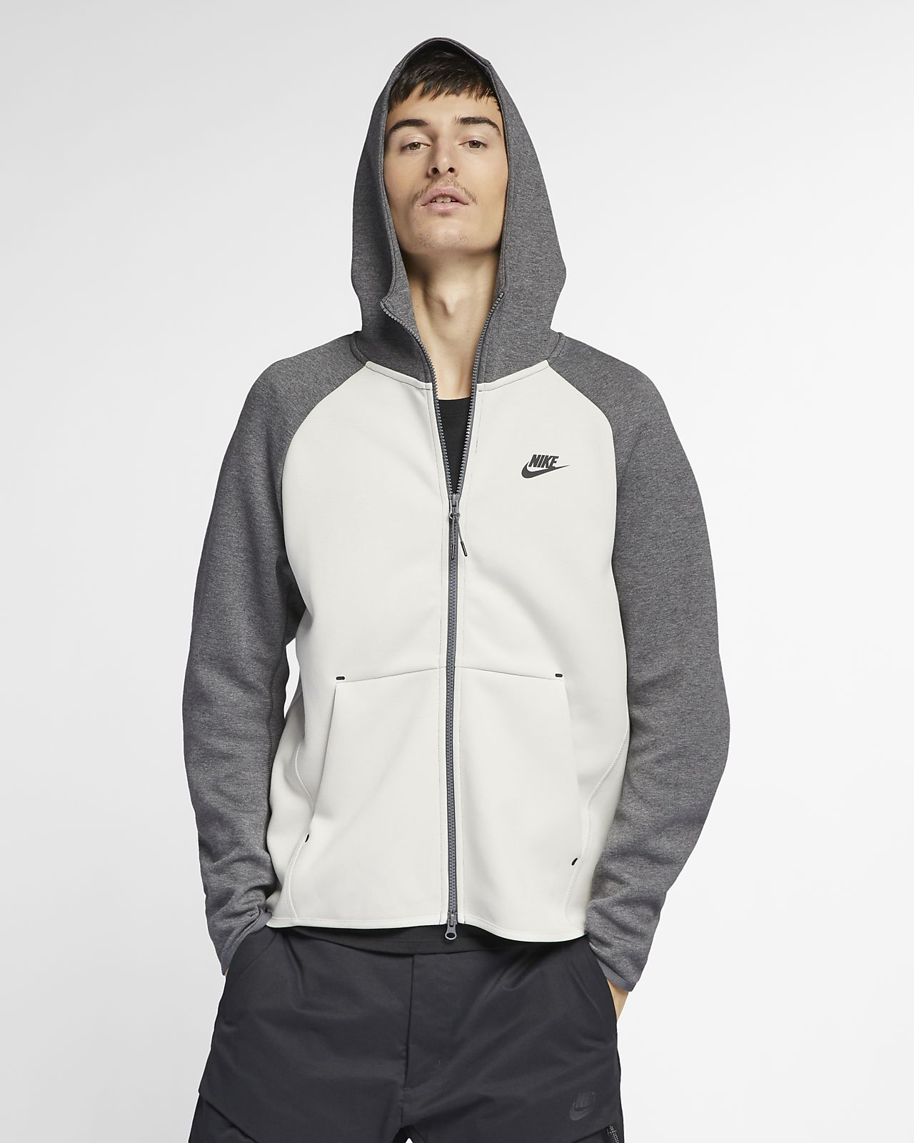91ef525c964 Pánská mikina s kapucí a dlouhým zipem Nike Sportswear Tech Fleece ...
