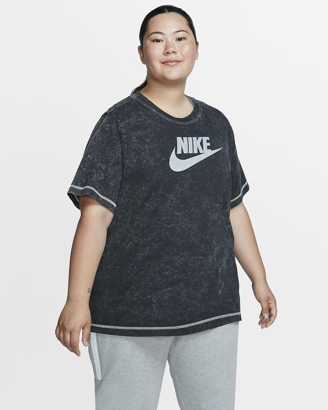 Nike Sportswear kortermet overdel til dame (store størrelser)