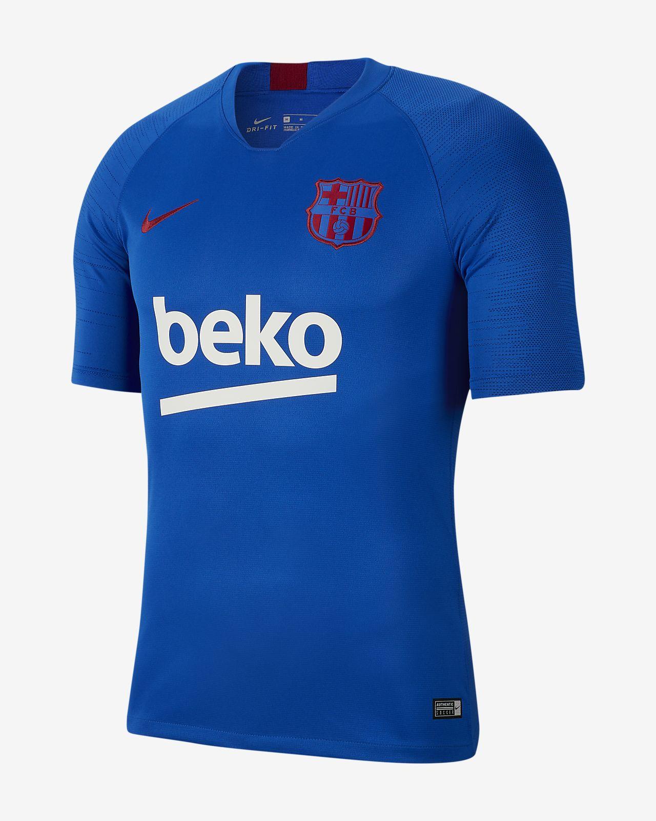 Ανδρική κοντομάνικη ποδοσφαιρική μπλούζα Nike Breathe FC Barcelona Strike