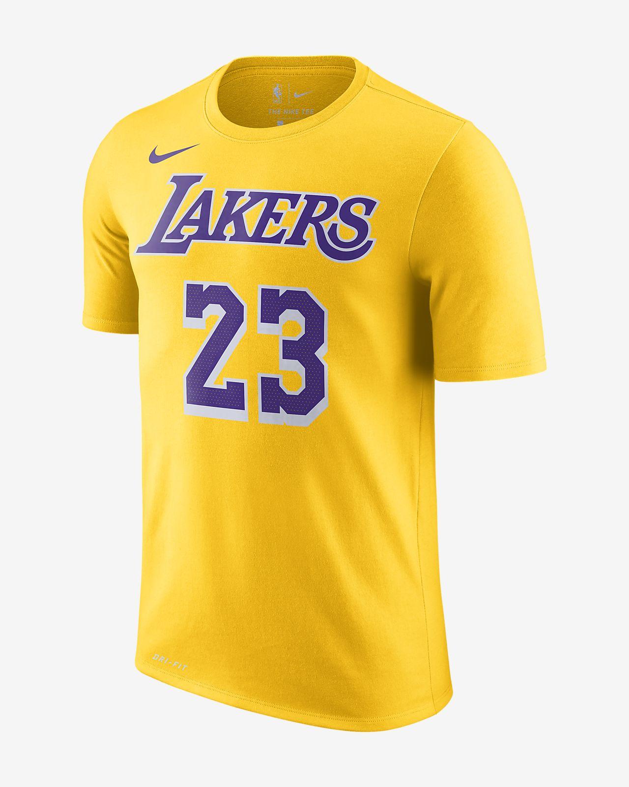 Tee-shirt NBA LeBron James Los Angeles Lakers Nike Dri-FIT pour Homme