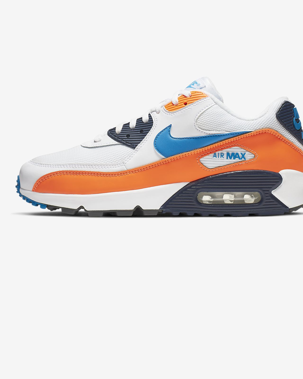 Mens Nike Air Max 90 Shoes Blue Black Grey Orange,nike air