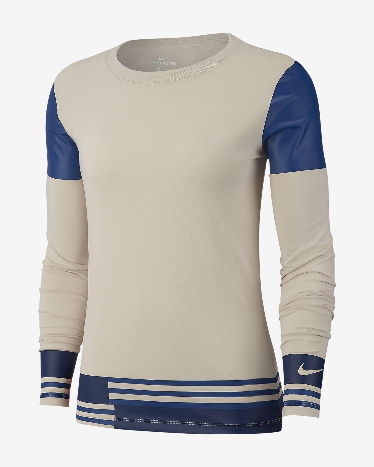 Running À Pour Manches De Tee Nike Dri Fit Femme Shirt Longues tSwpSEUq