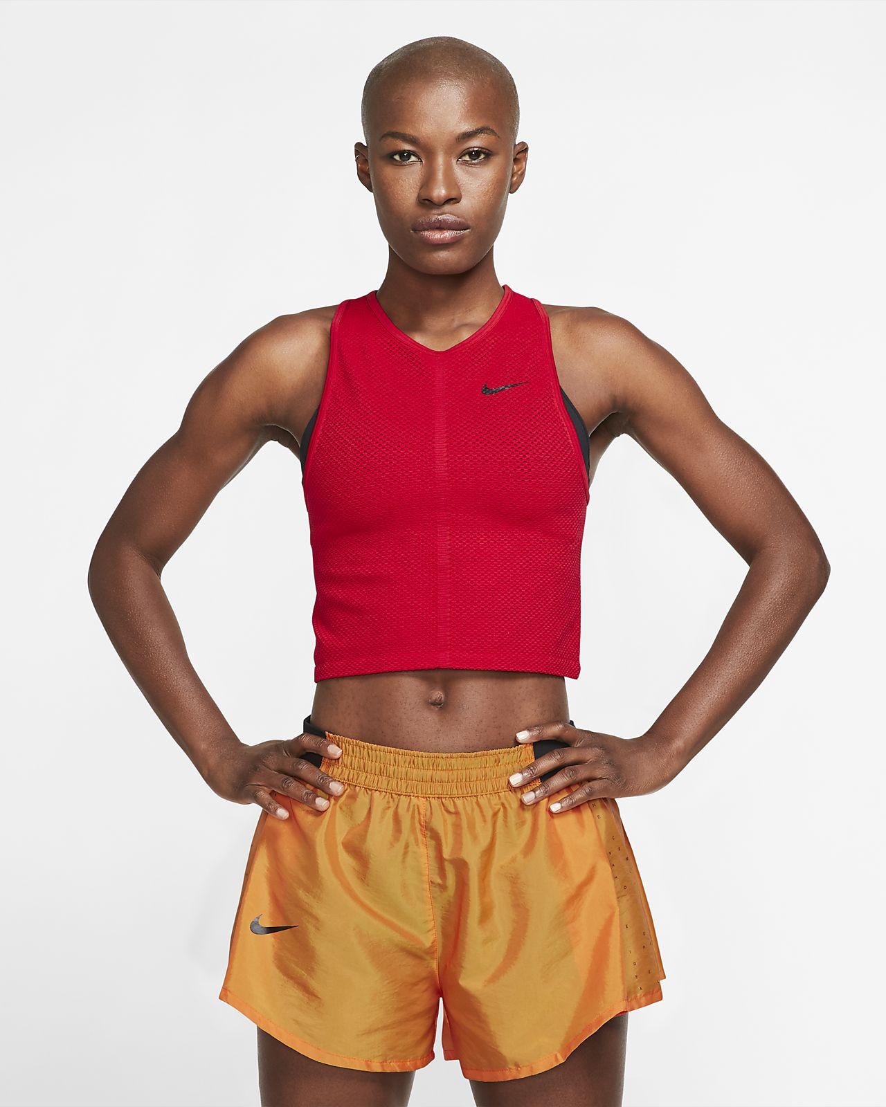 Nike Dri-FIT Hardlooptanktop van mesh voor dames