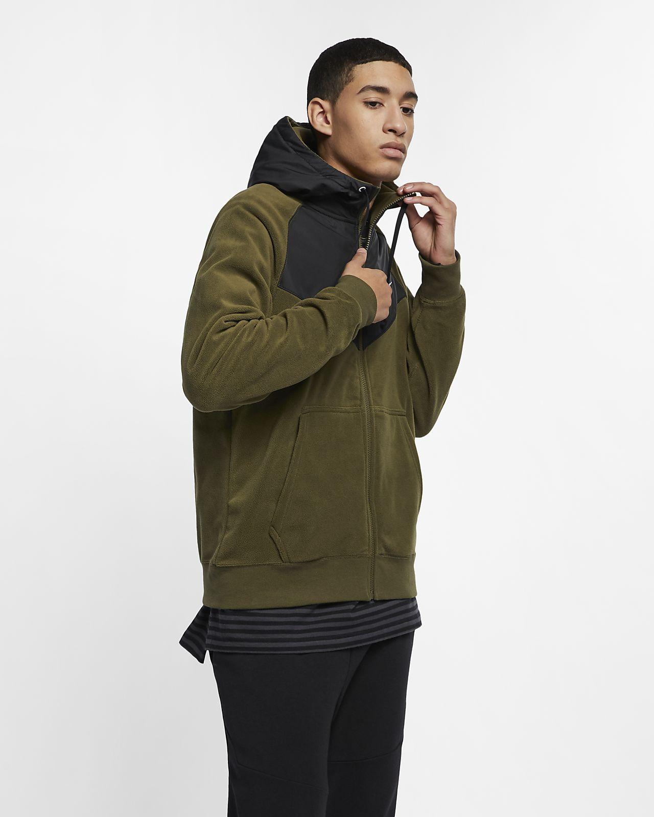 Nike Sportswear hettejakke med glidelås til herre