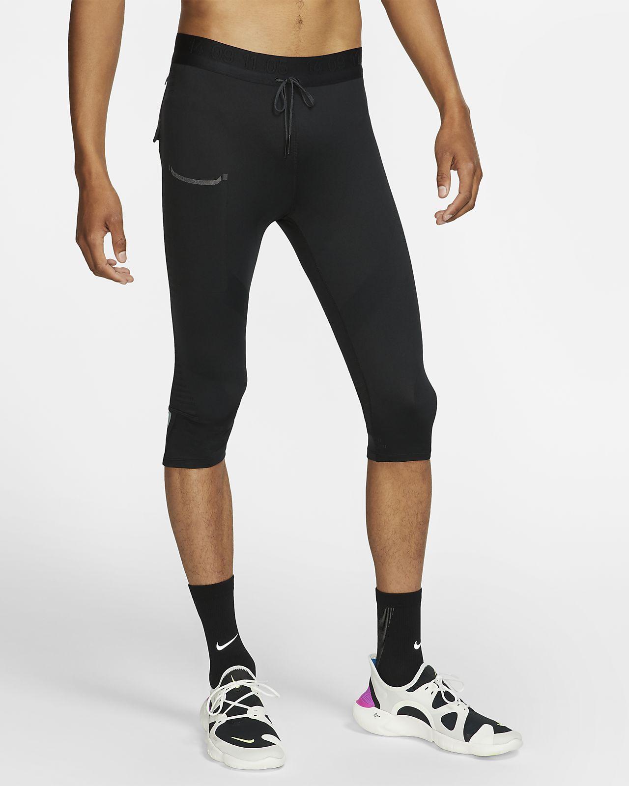 Pánské tříčtvrteční běžecké legíny Nike
