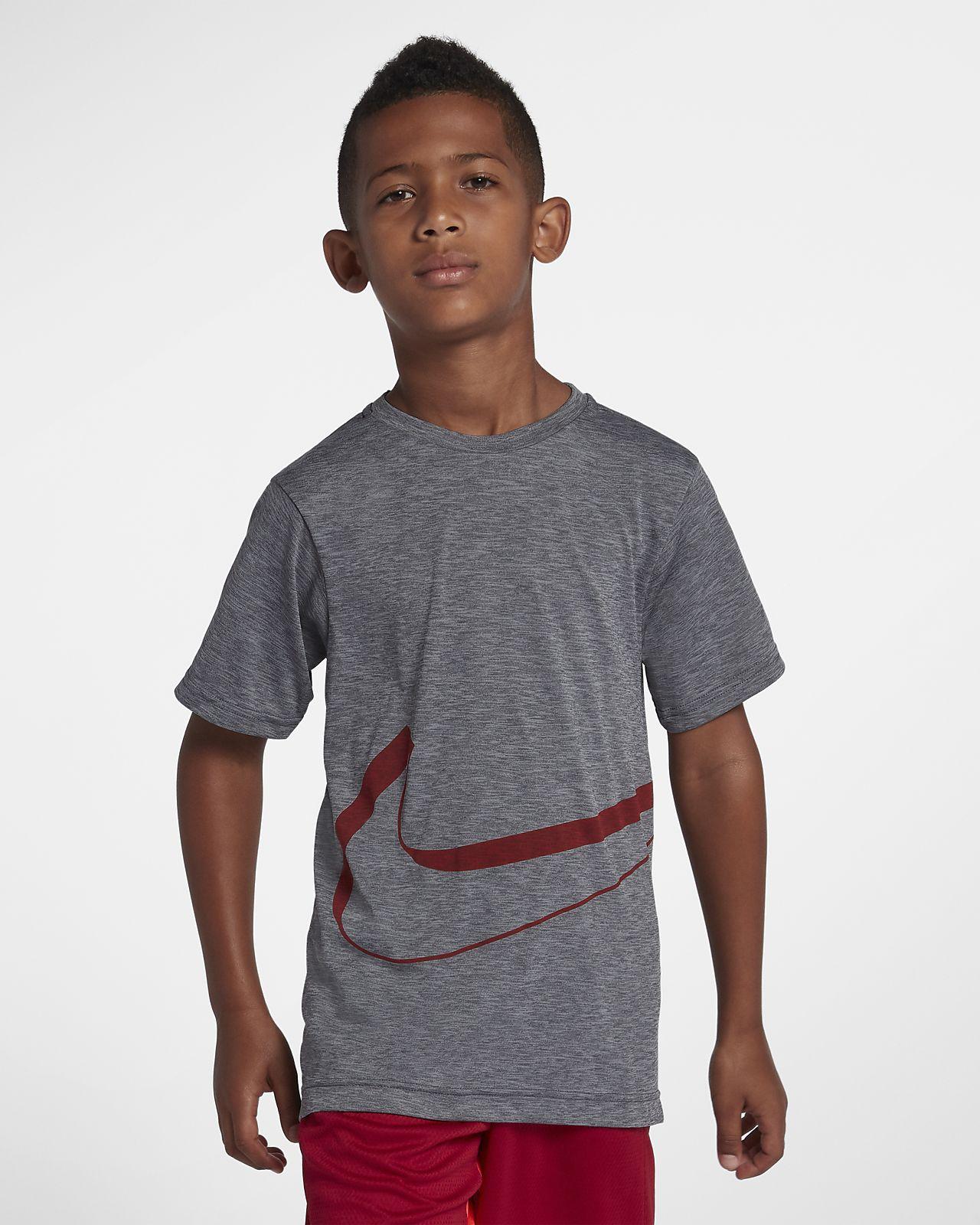 Nike Dri-FIT Breathe Kurzarm-Trainingsoberteil für ältere Kinder (Jungen)