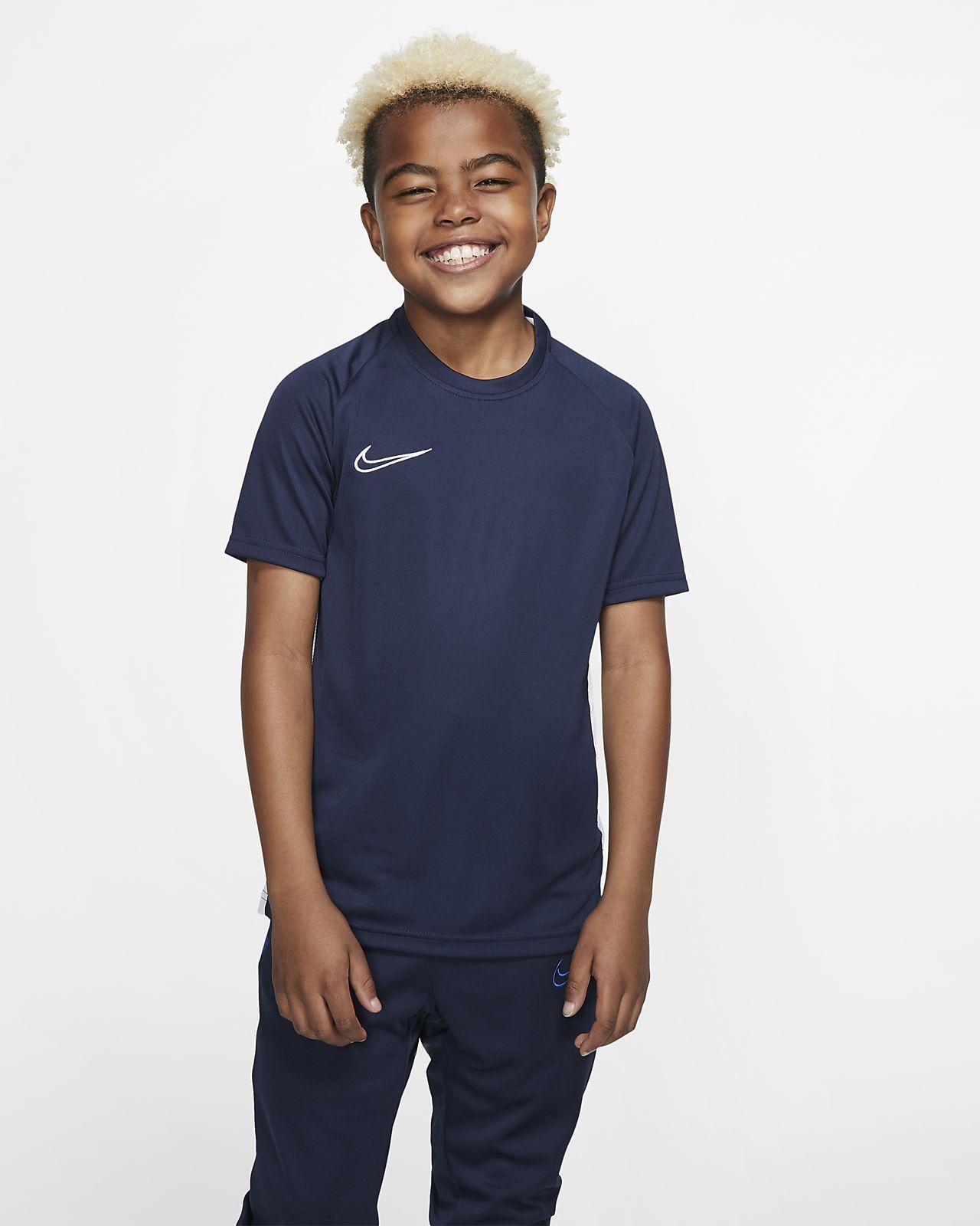 Camisola de futebol de manga curta Nike Dri-FIT Academy Júnior