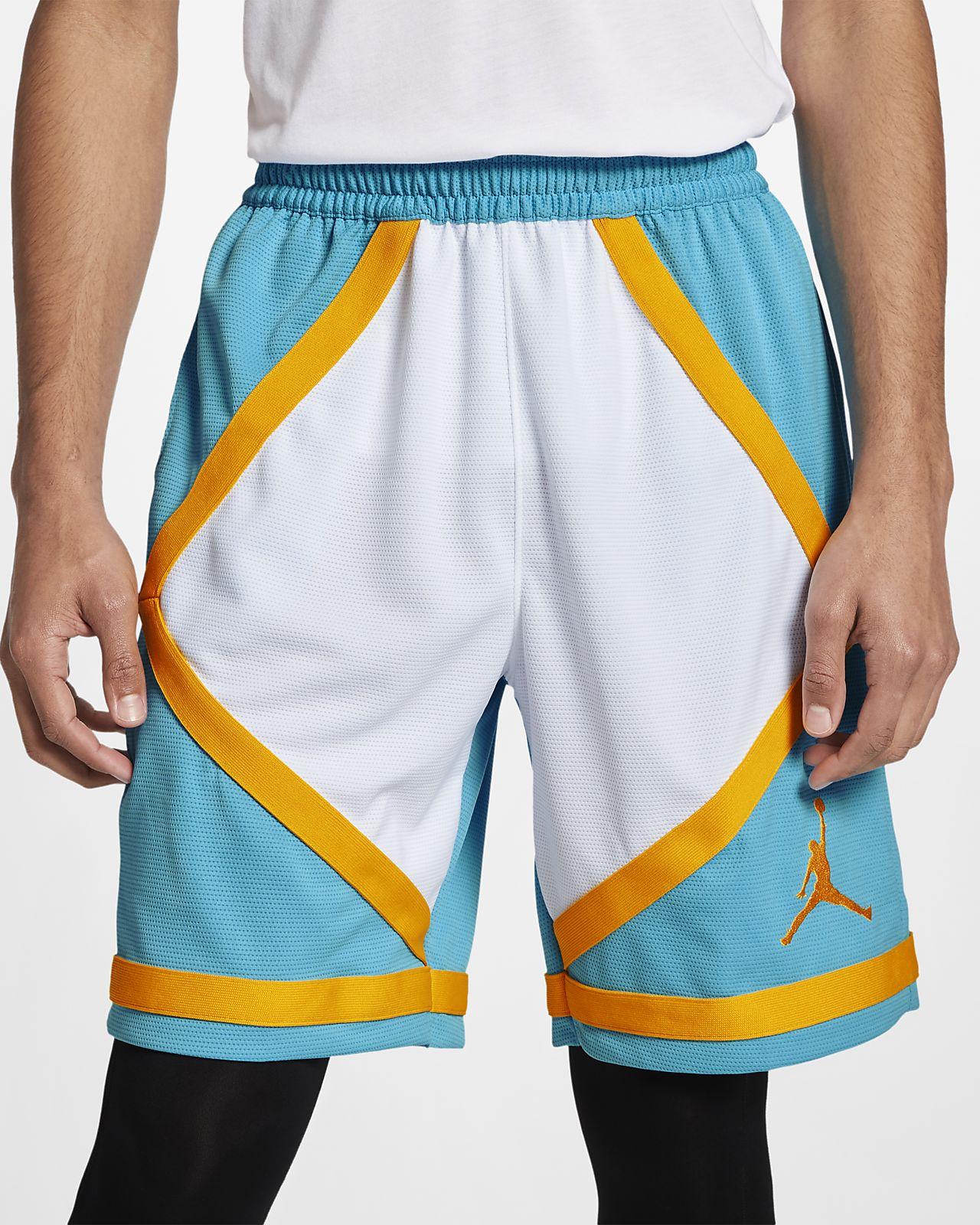 กางเกงบาสเก็ตบอลขาสั้นผู้ชายมีแถบ Jordan Dri-FIT