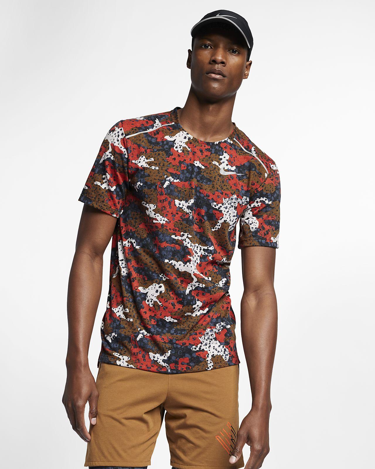 Męska koszulka z krótkim rękawem do biegania Nike Breathe Rise 365