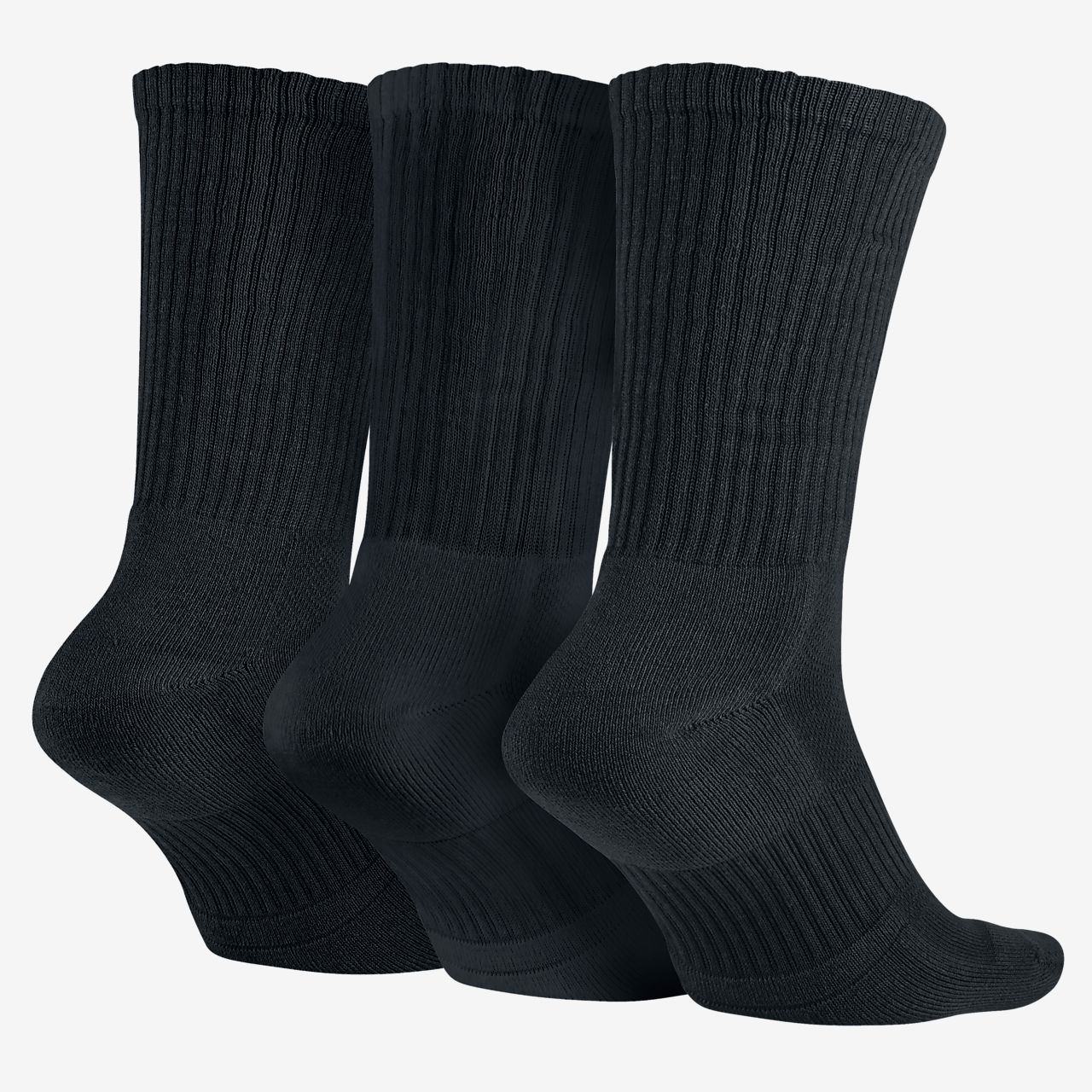 nike dri fit cushioned crew 3 pair training socks. Black Bedroom Furniture Sets. Home Design Ideas