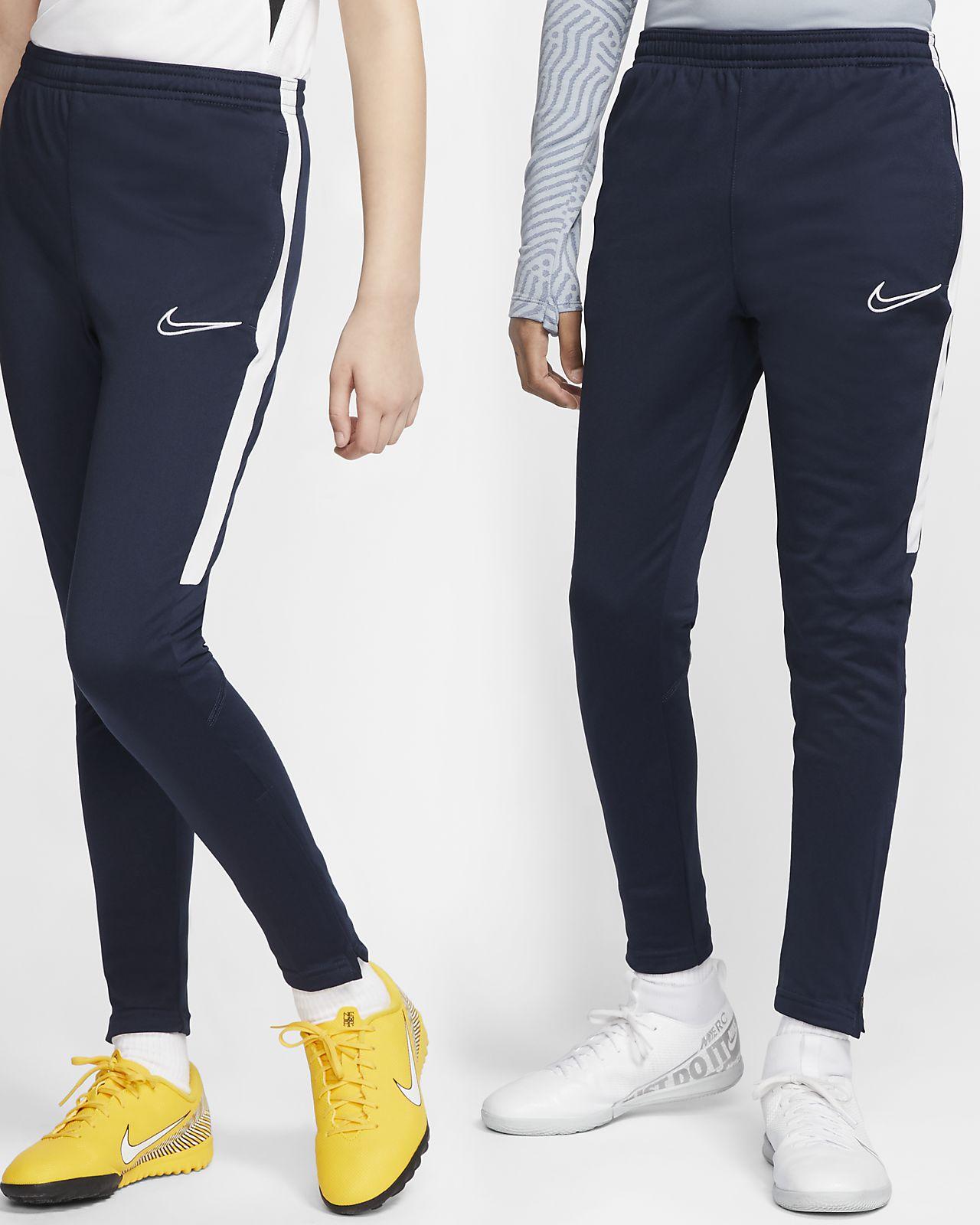 Pantaloni Tuta Allenamento Nike Academy Uomo tasche con zip Nero