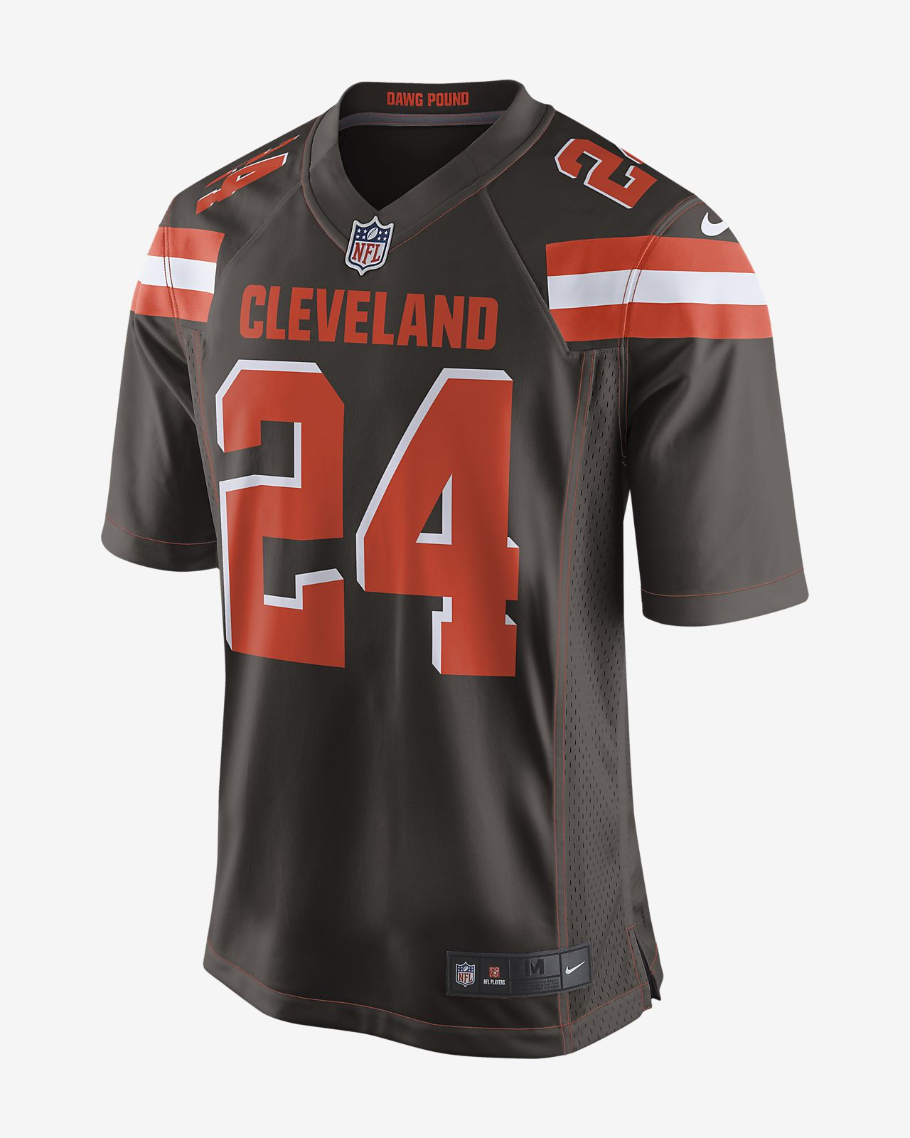 872ff6bcc0b NFL Cleveland Browns (Nick Chubb) Men's Game Football Jersey. Nike.com