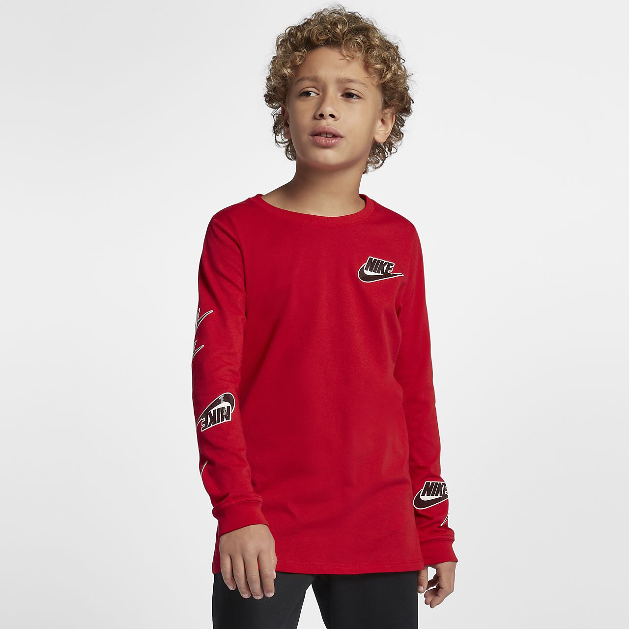 cc4d27a42c23f Nike Sportswear Big Kids  (Boys ) Long-Sleeve T-Shirt. Nike.com