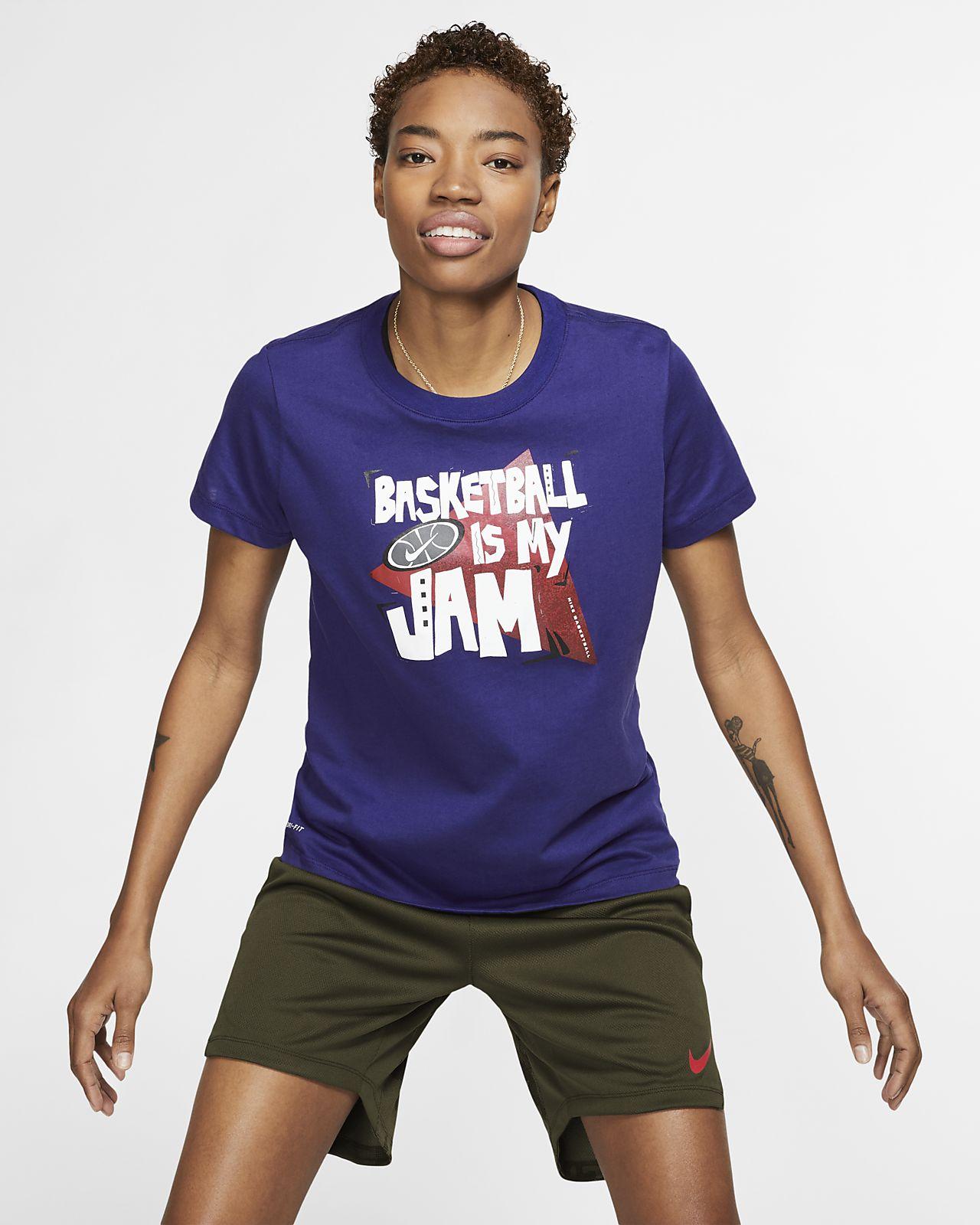 nike t shirt basket dri fit femme