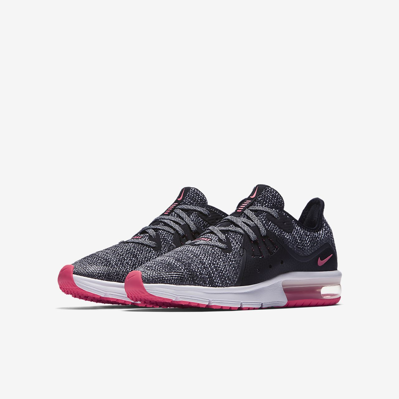 low priced fbbd0 d9dc2 Chaussures Nike Air Max Sequent noires enfant