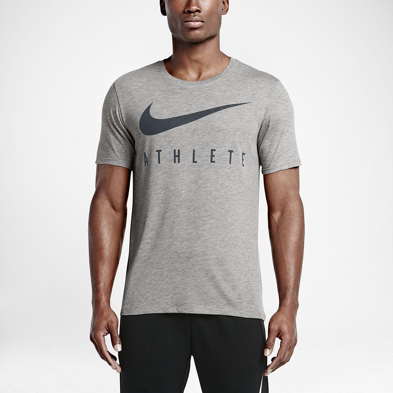 Nike Swoosh Athlete Men's T-Shirts Dark Grey Heather/Black