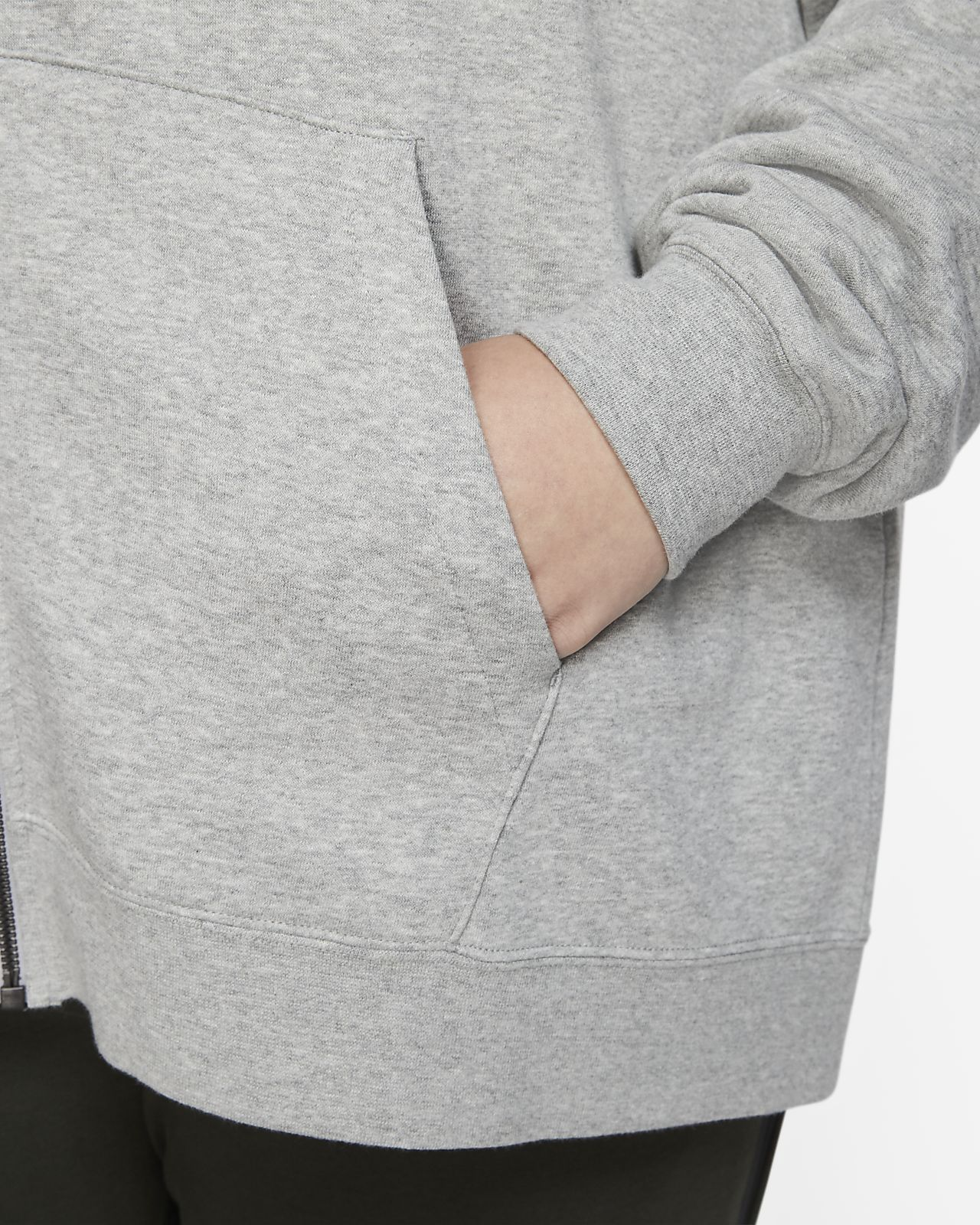 Nike Sportswear Essential Fleece Hoodie mit durchgehendem Reißverschluss für Damen