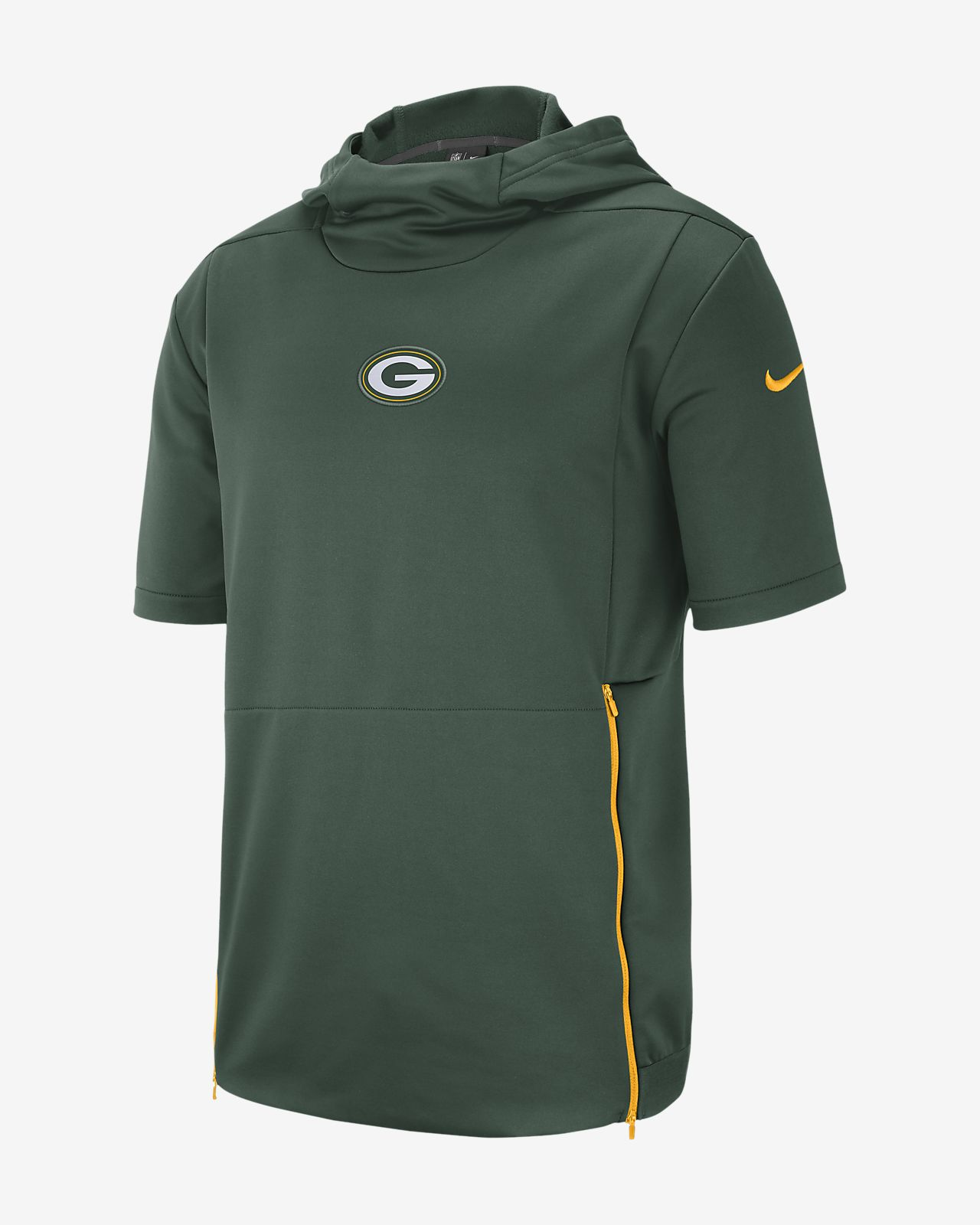 Nike Dri-FIT Therma (NFL Packers) kortermet overdel med hette til herre