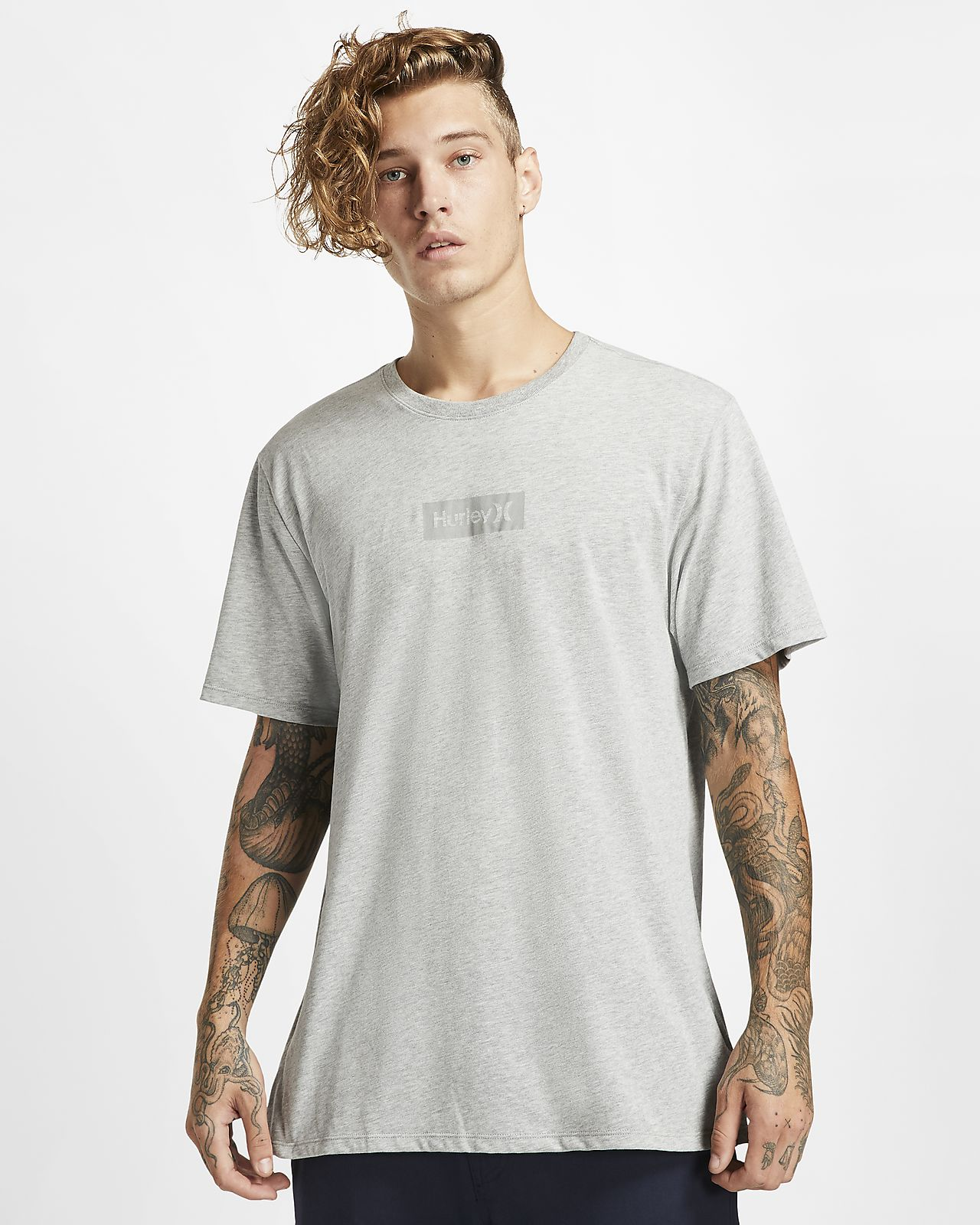 Hurley Dri-FIT One And Only Small Box Reflective-T-shirt til mænd