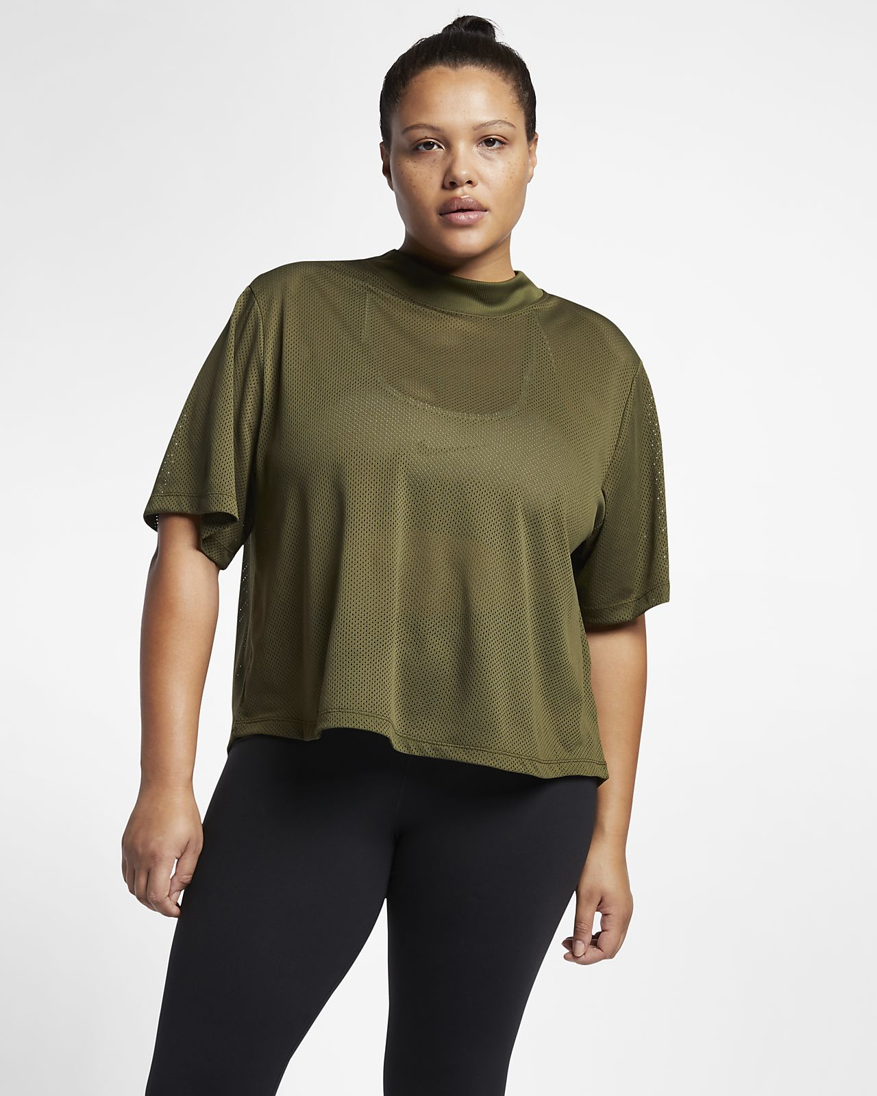 fa9f4e89e0c Nike Dri-FIT Women s Short-Sleeve Training Top (Plus Size). Nike.com GB