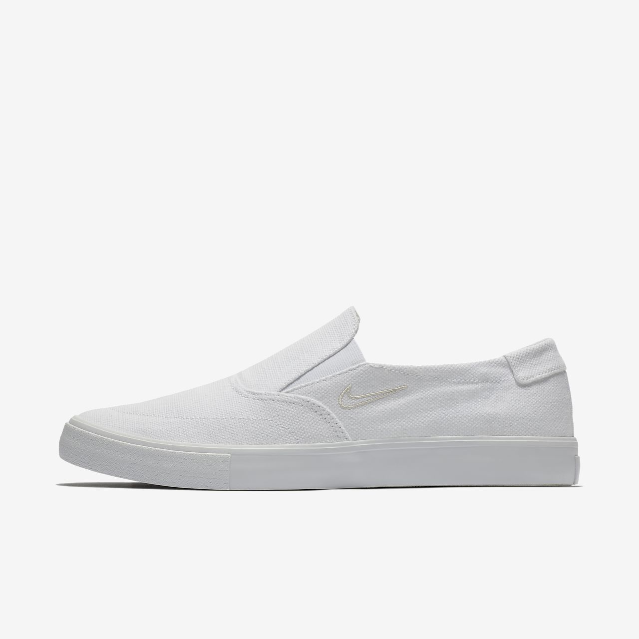 Nike SB Portmore II Solarsoft Slipon Blanc - Chaussures Slips on Homme