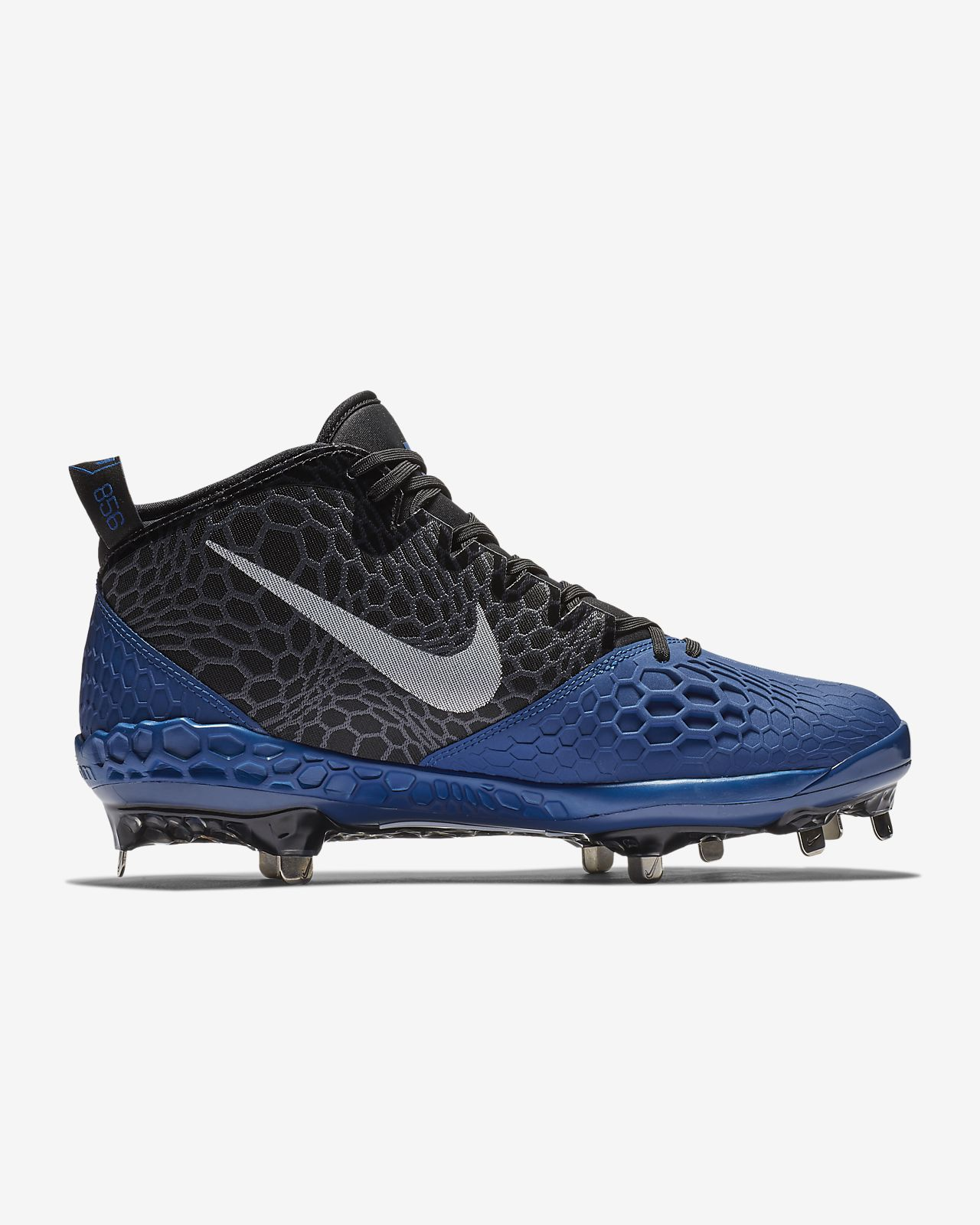 Men's Nike Force Zoom Trout 4 Mens Baseball Cleats Black White Metal Spikes Sz 11.5 Clothing, Shoes & Accessories