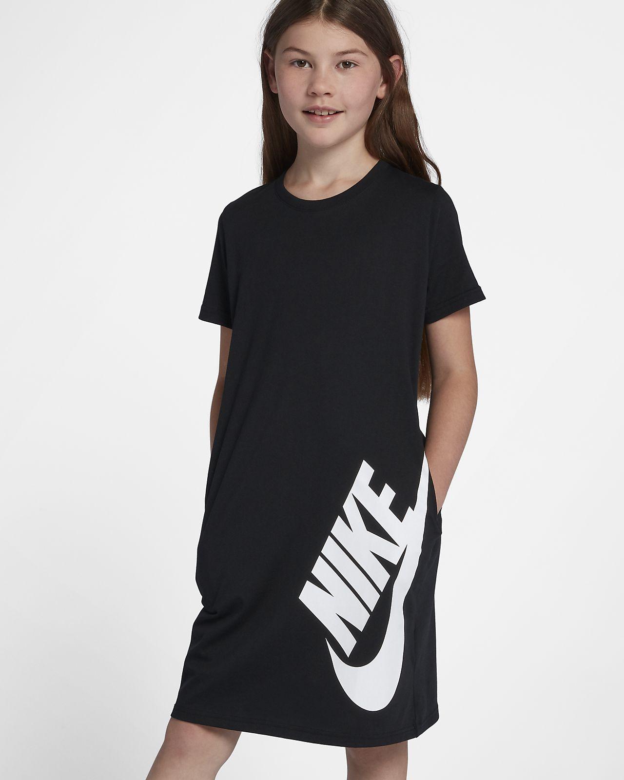 Nike Sportswear T-skjortekjole til store barn (jente)