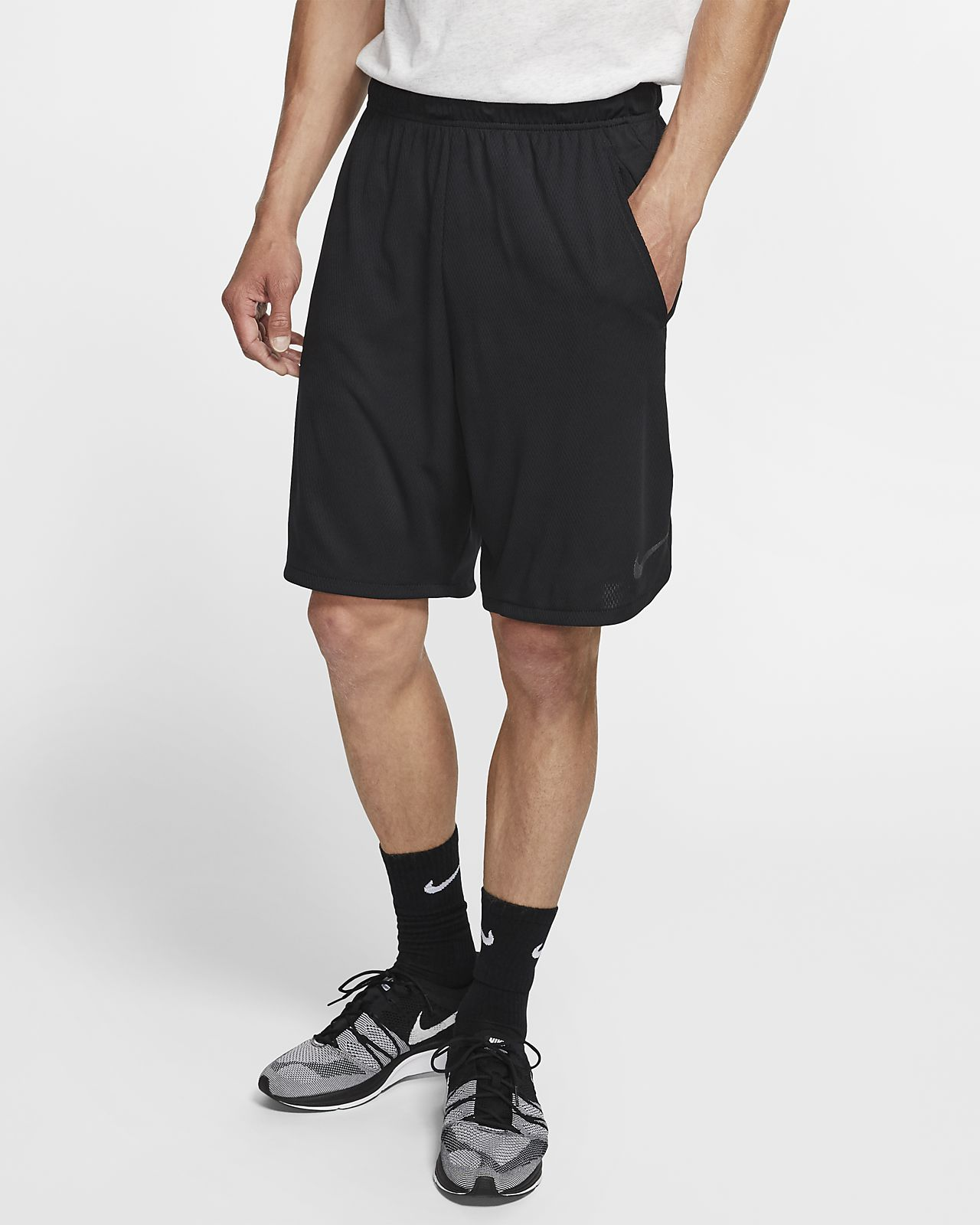 Nike Mens Training Shorts - Nike Dri-FIT Fleece Deep Royal Blue/Black D32s3616