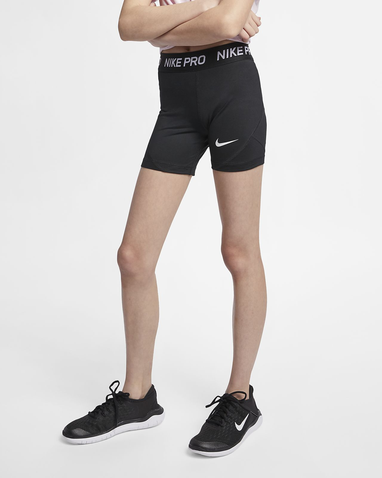 b1c96dc26841 Nike Pro Big Kids' (Girls') Boyshorts. Nike.com
