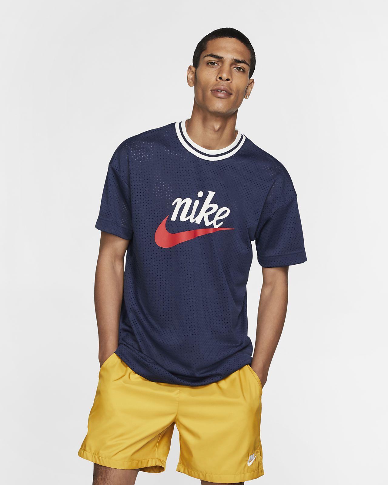 Tröja med tryck i mesh Nike Sportswear för män