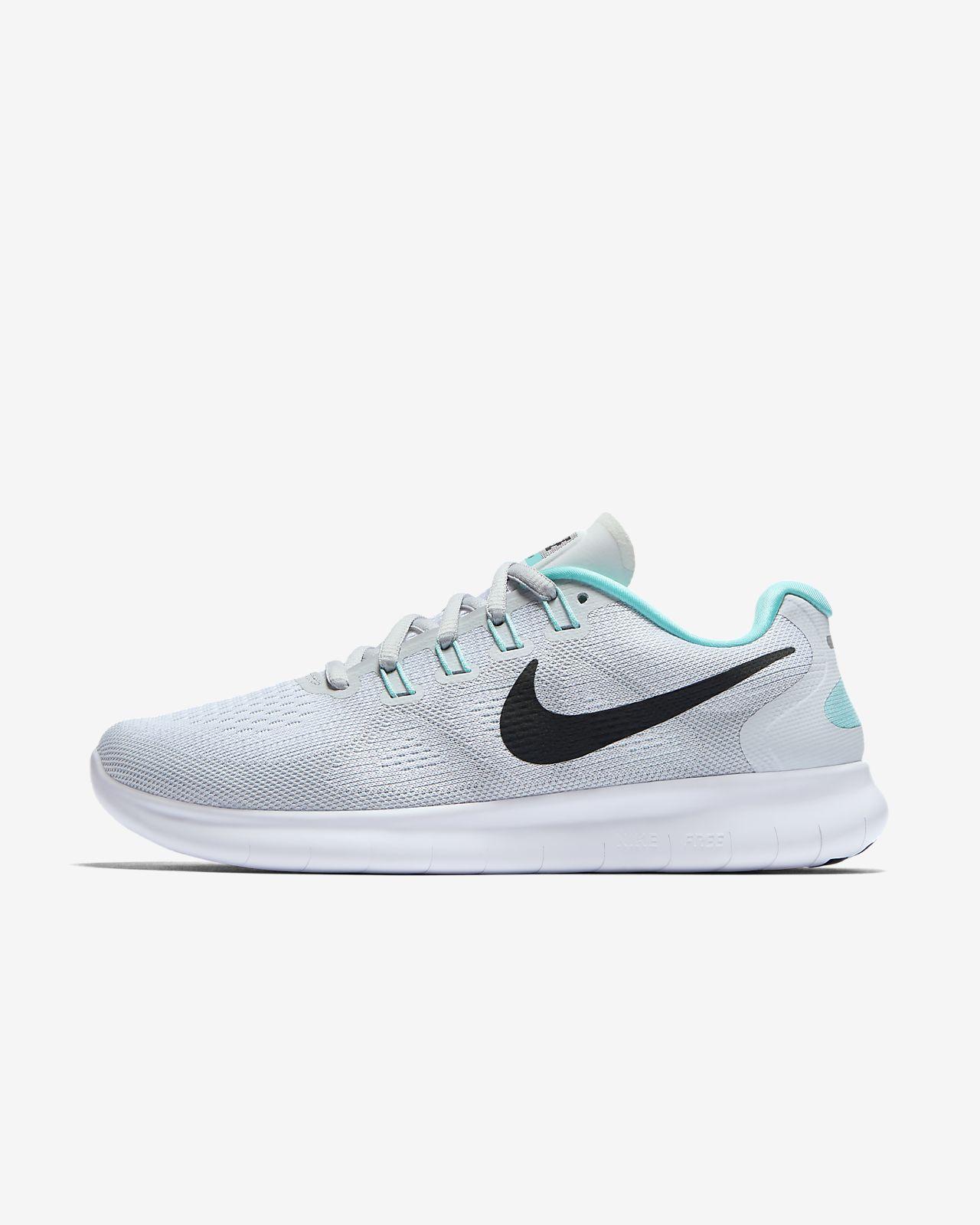 Nike Damen Free RN 2017 Laufschuhe, Weiß (White-Black-Pure Platinum), 36.5 EU