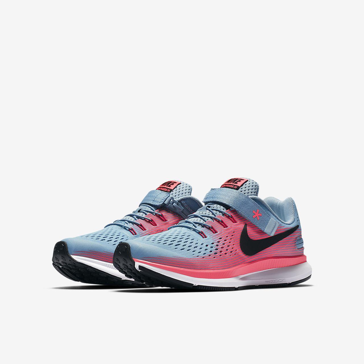 new concept c6cbe 19de0 Nike Zoom Pegasus 34 FlyEase Big Kids Running Shoe .