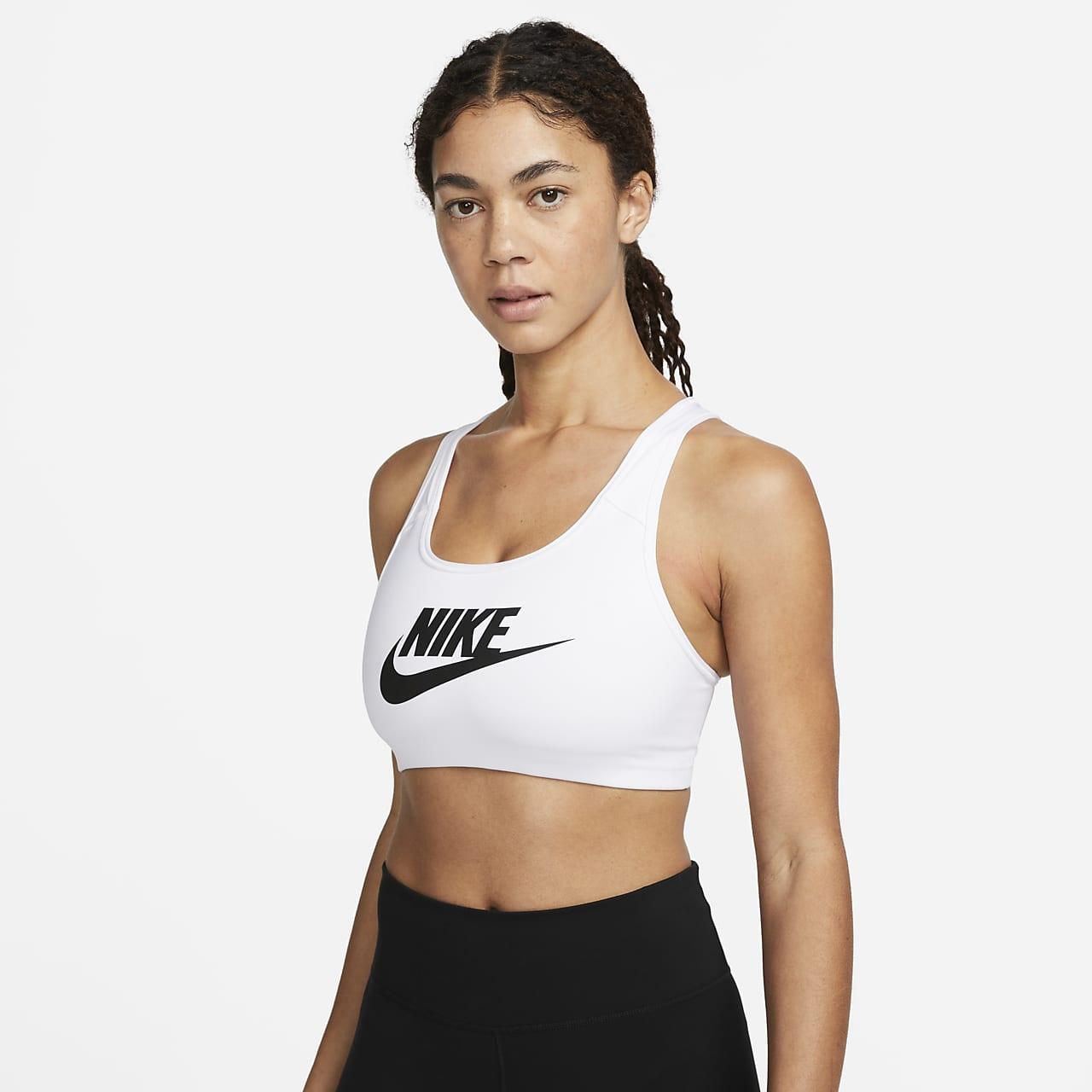 Nike Classic Swoosh Futura Sujetador deportivo de sujeción media - Mujer