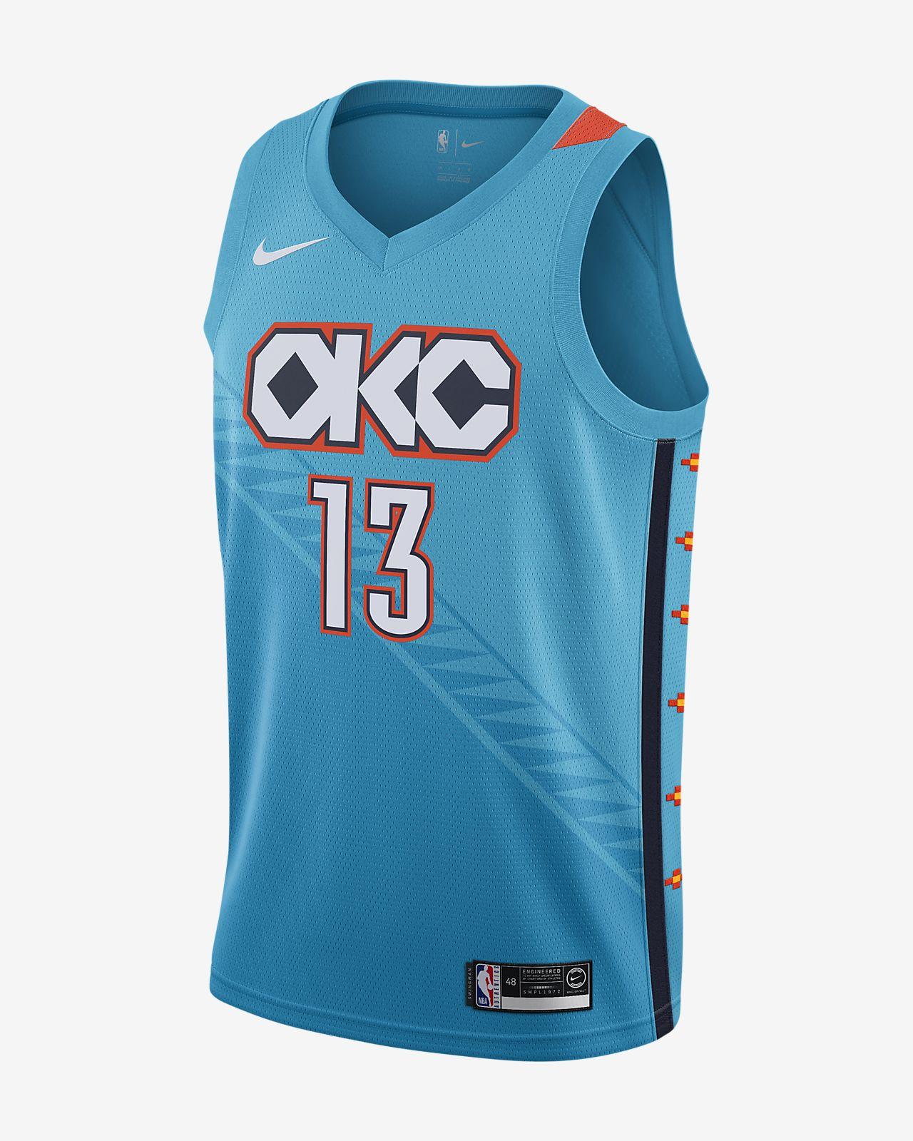 เสื้อแข่ง Nike NBA Connected ผู้ชาย Paul George City Edition Swingman (Oklahoma City Thunder)