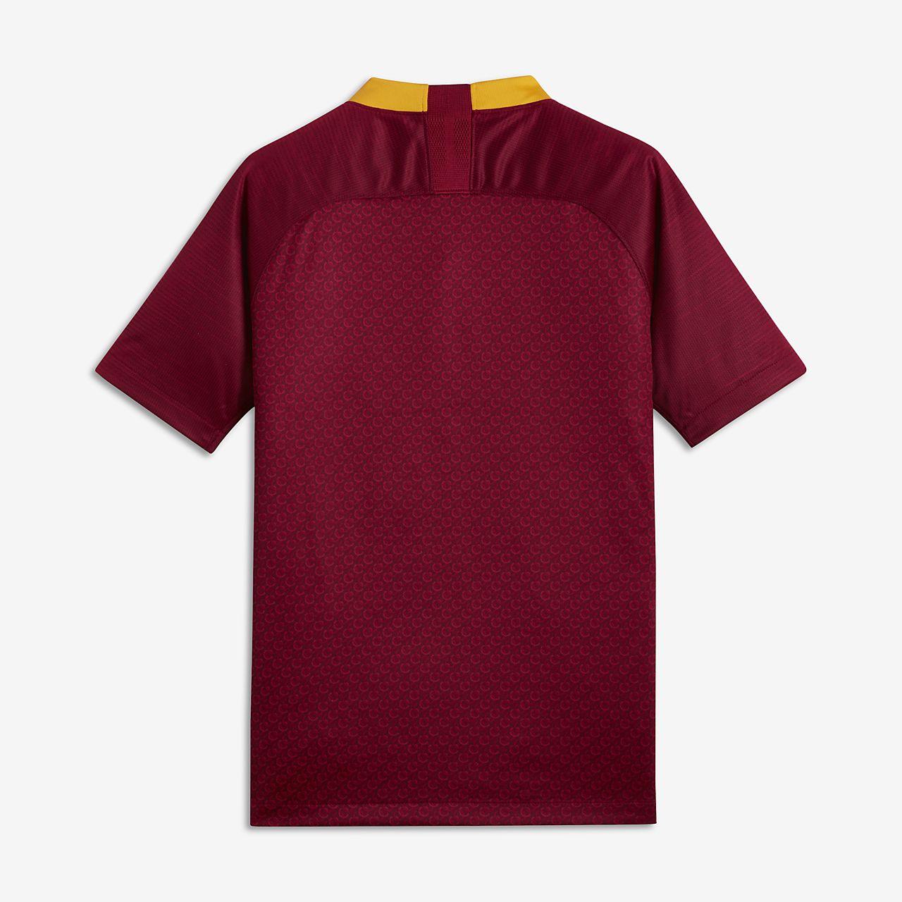 ... Camiseta de fútbol para niños talla grande 2018 19 A.S. Roma Stadium  Home 5cd5c64a78577